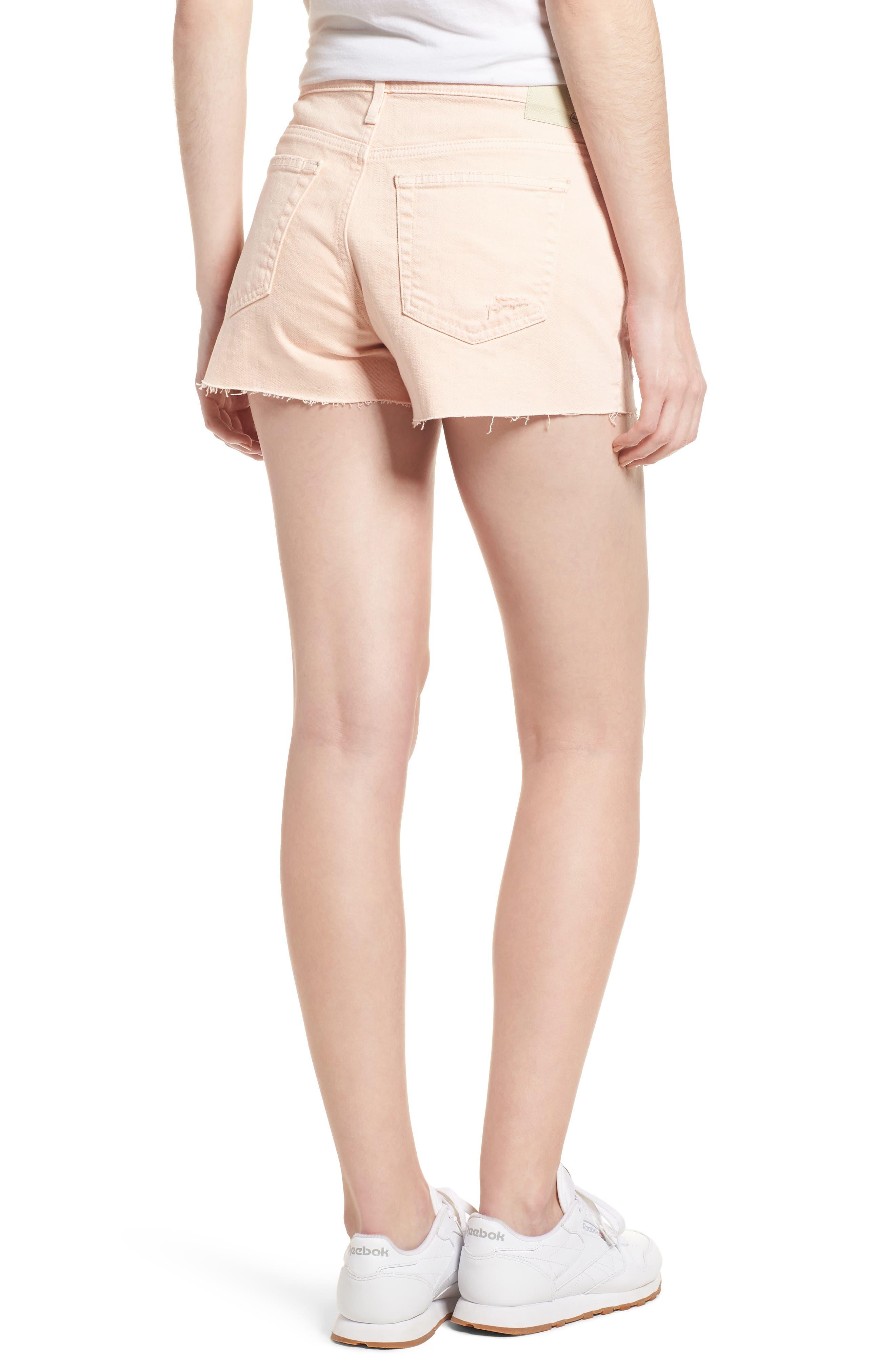 The Bryn High Waist Cutoff Denim Shorts,                             Alternate thumbnail 7, color,