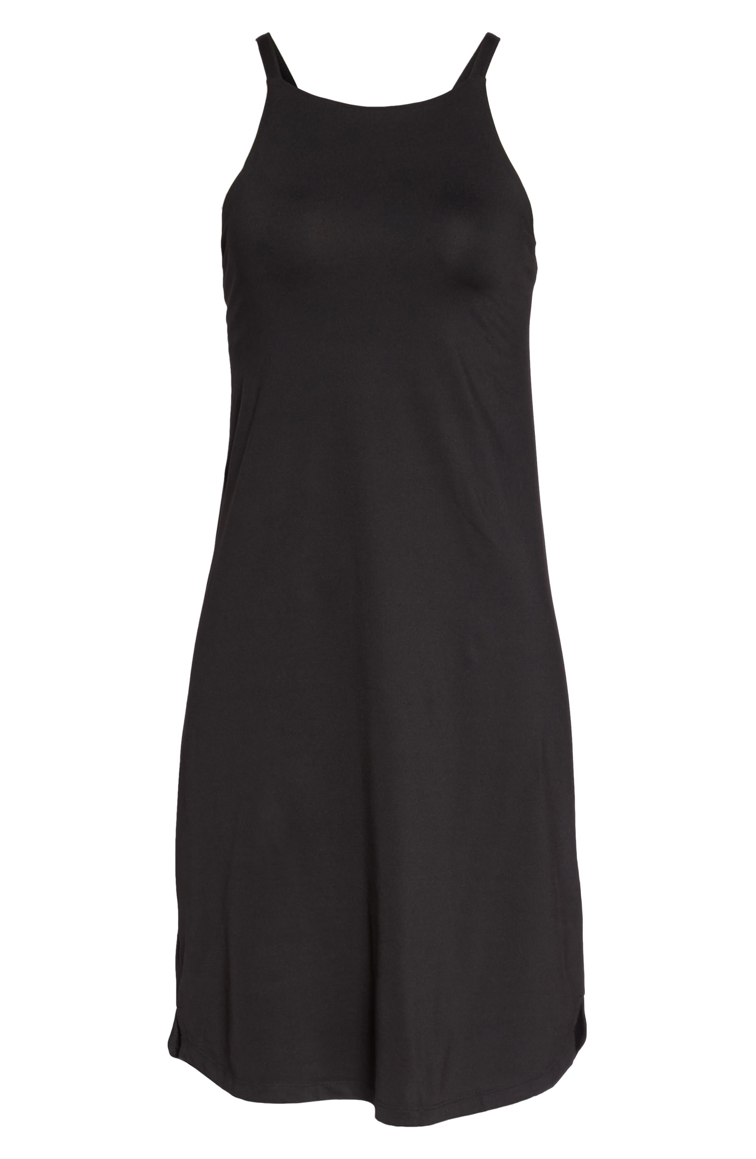 Sliding Rock Dress,                             Alternate thumbnail 7, color,                             BLACK