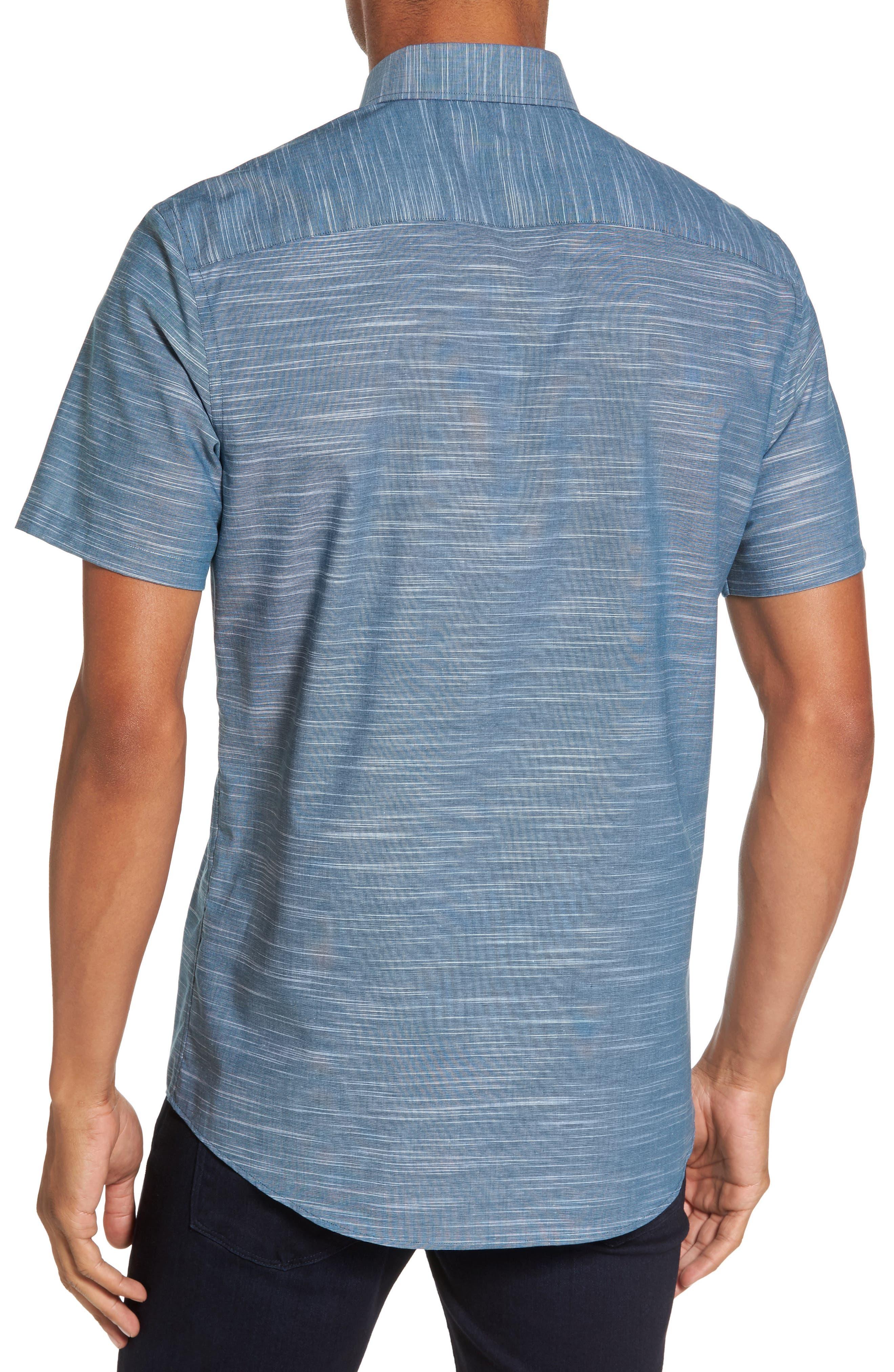 Calilbrate Slim Fit Slub Woven Shirt,                             Alternate thumbnail 4, color,