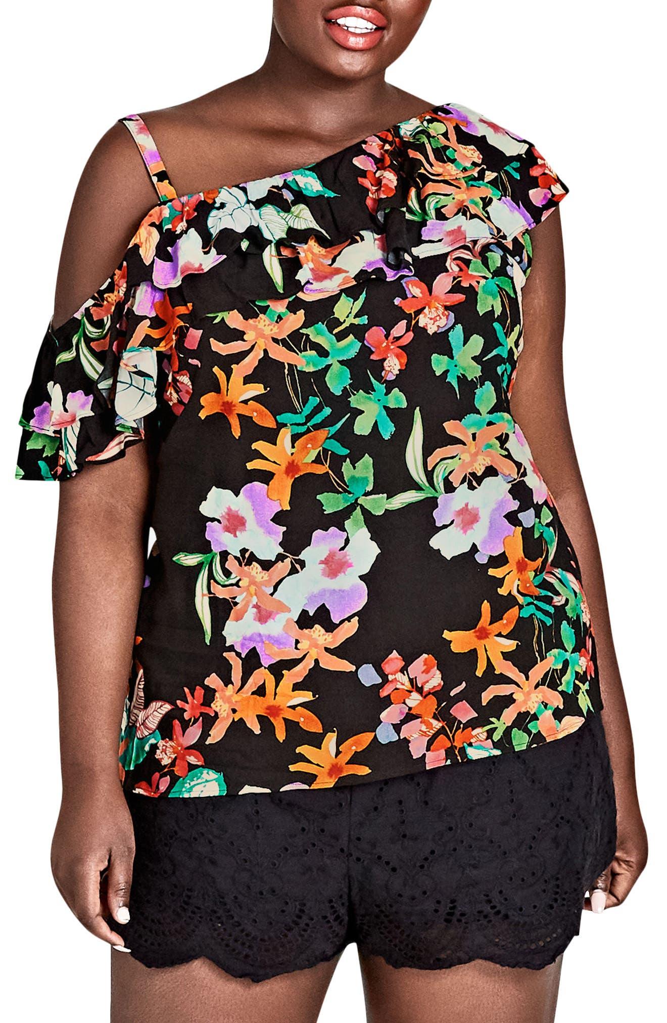 Molokai Floral Top,                         Main,                         color, MOLOKAI FLORAL