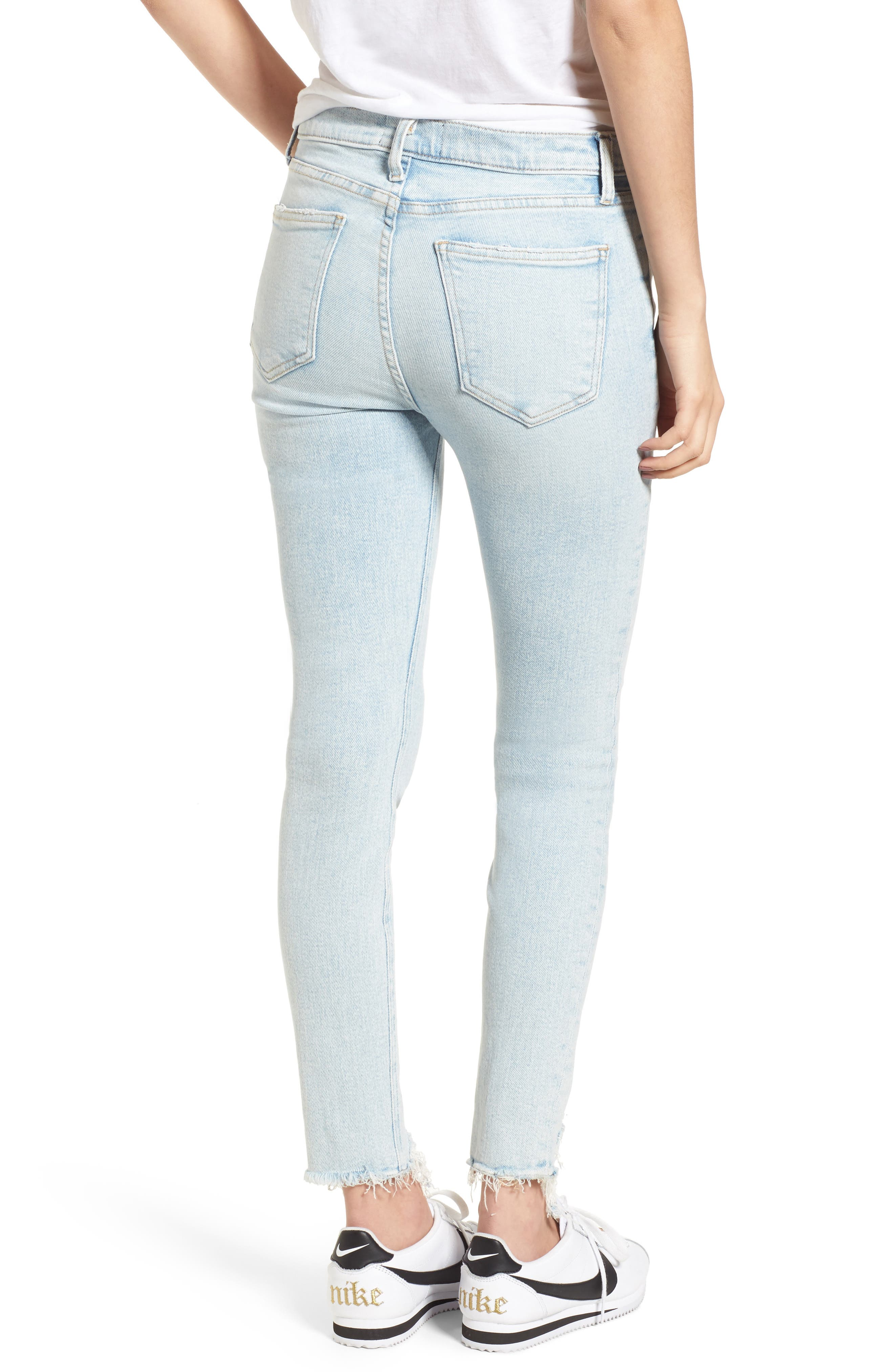 The High Waist Ankle Skinny Jeans,                             Alternate thumbnail 2, color,                             465