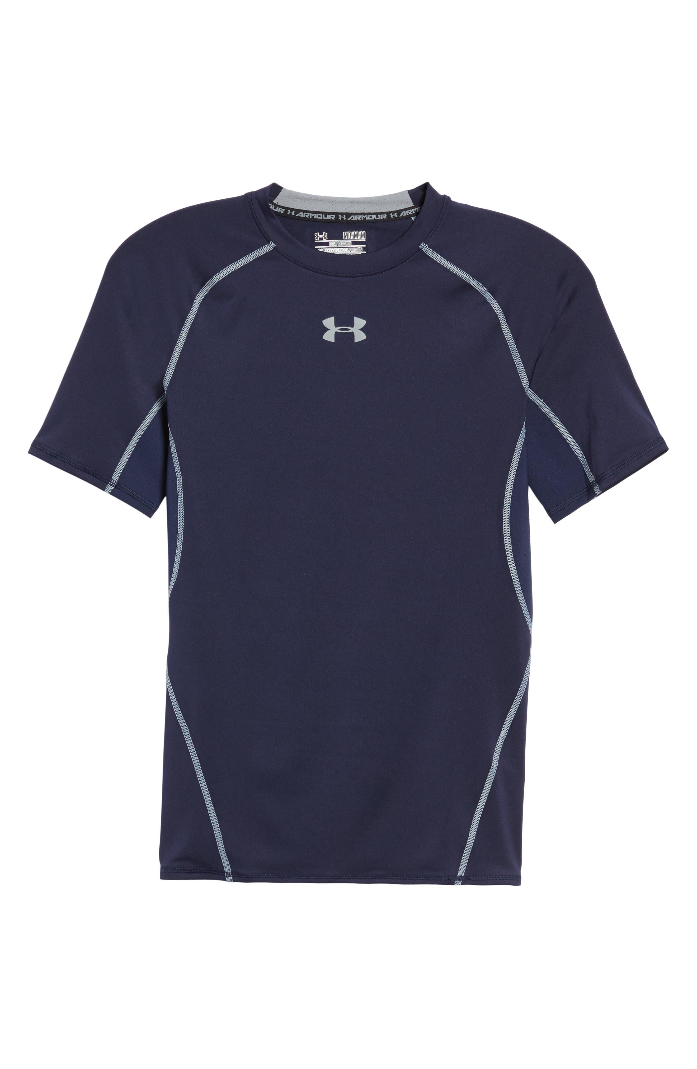 Under Armour Heatgear Compression Fit T-Shirt, Blue