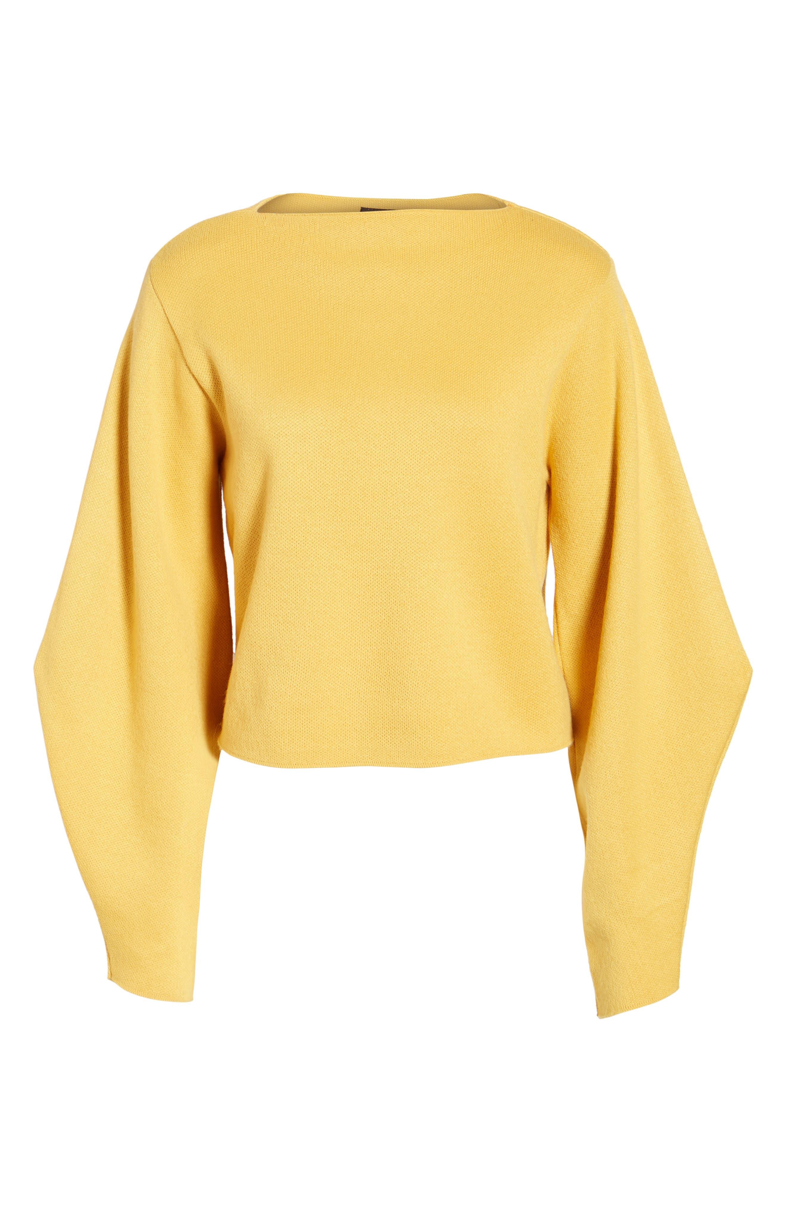 Balloon Sleeve Sweater,                             Alternate thumbnail 6, color,                             700