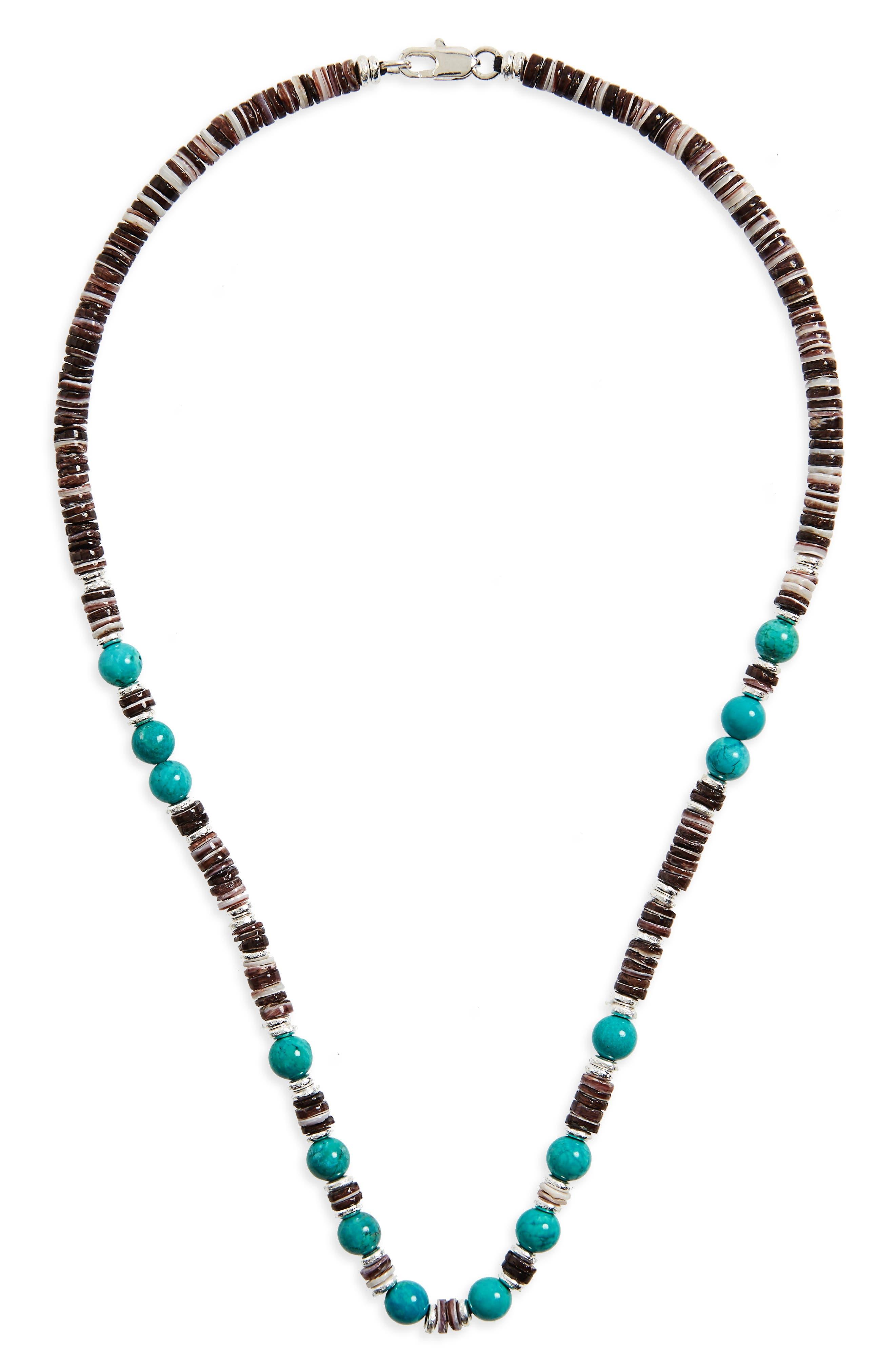 Shell Bead Necklace,                             Main thumbnail 1, color,                             001