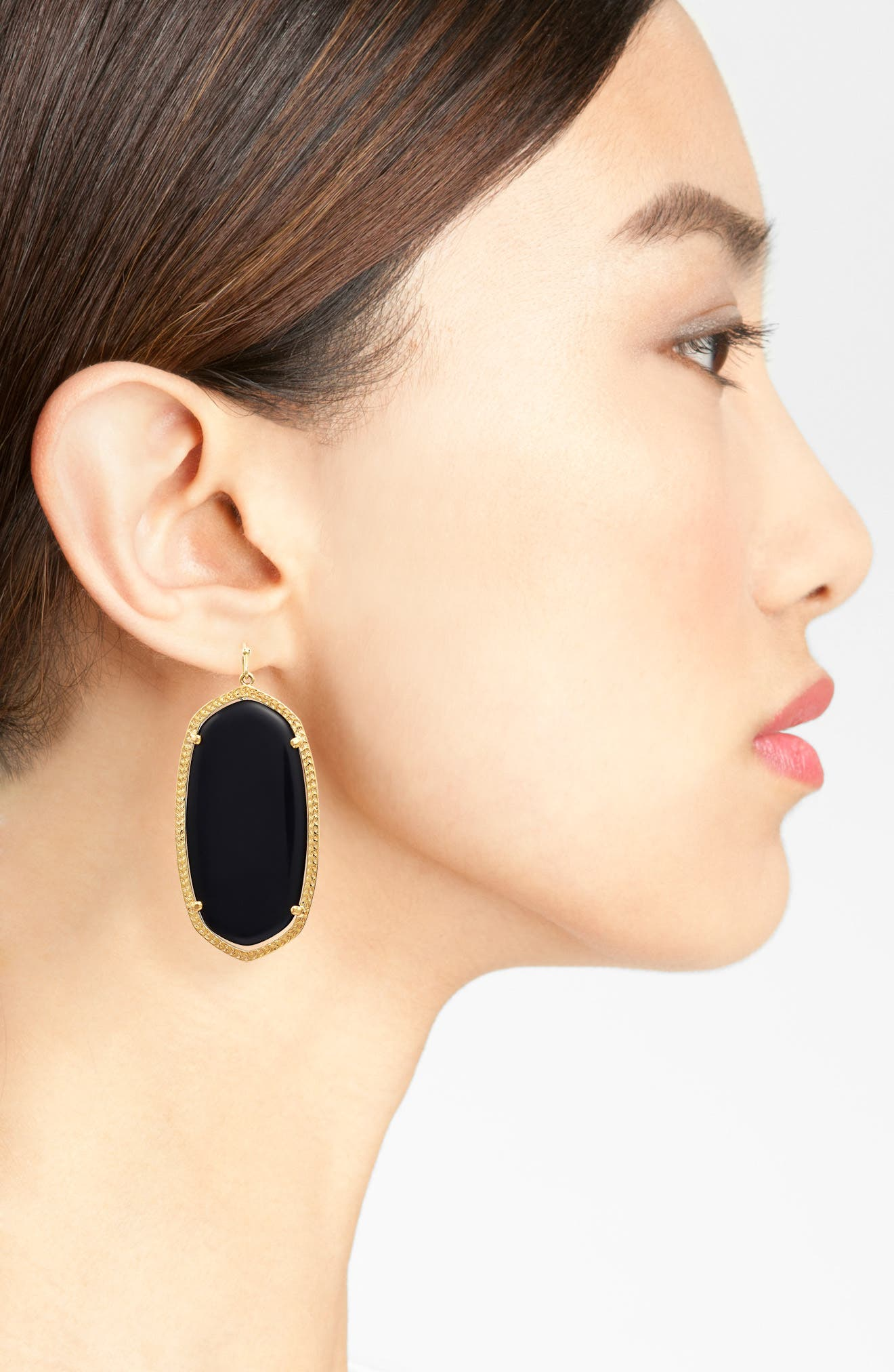 Danielle - Large Oval Statement Earrings,                             Alternate thumbnail 3, color,                             001