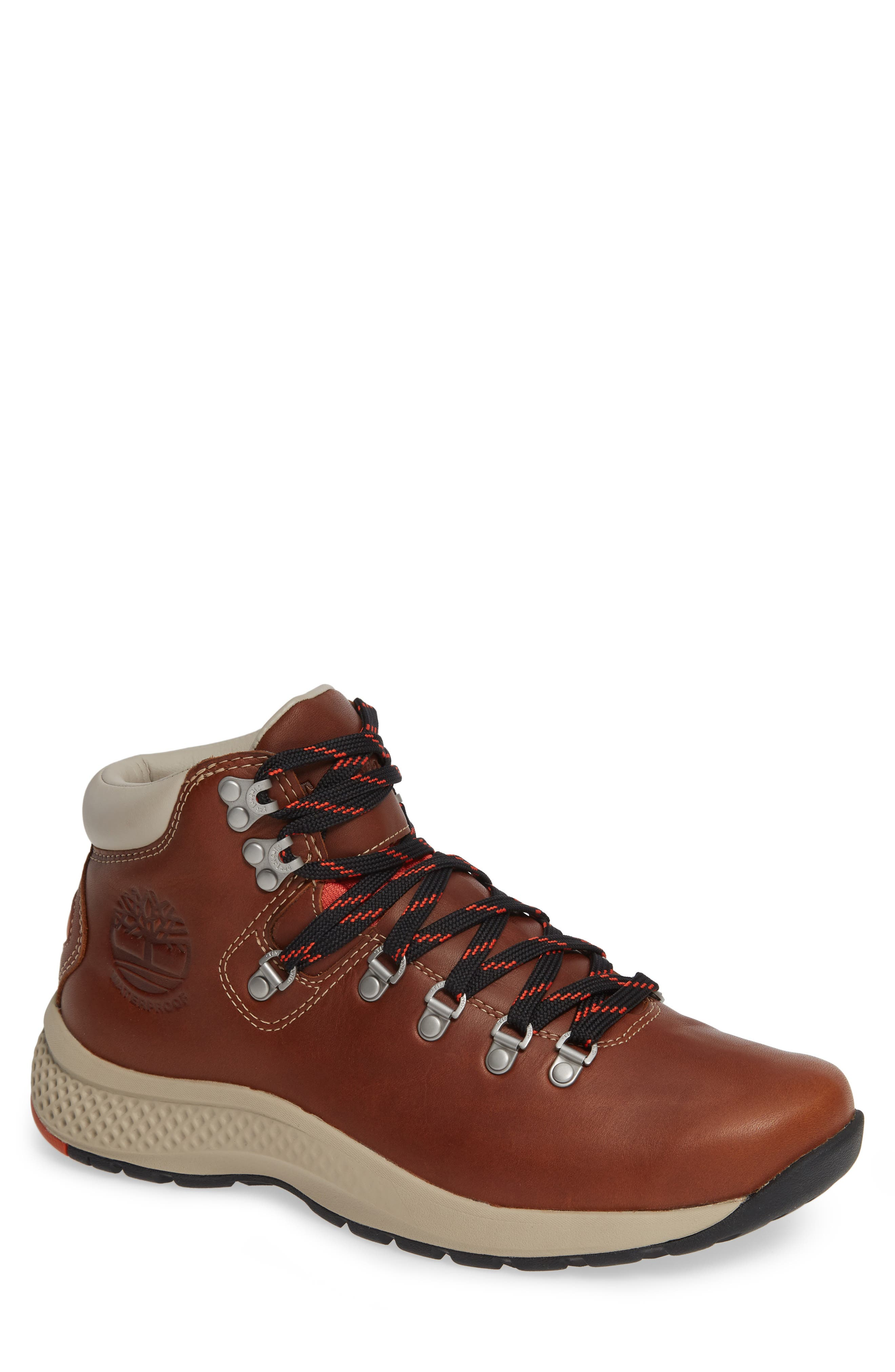 1978 Aerocore Waterproof Hiking Boot,                             Main thumbnail 1, color,                             BROWN LEATHER