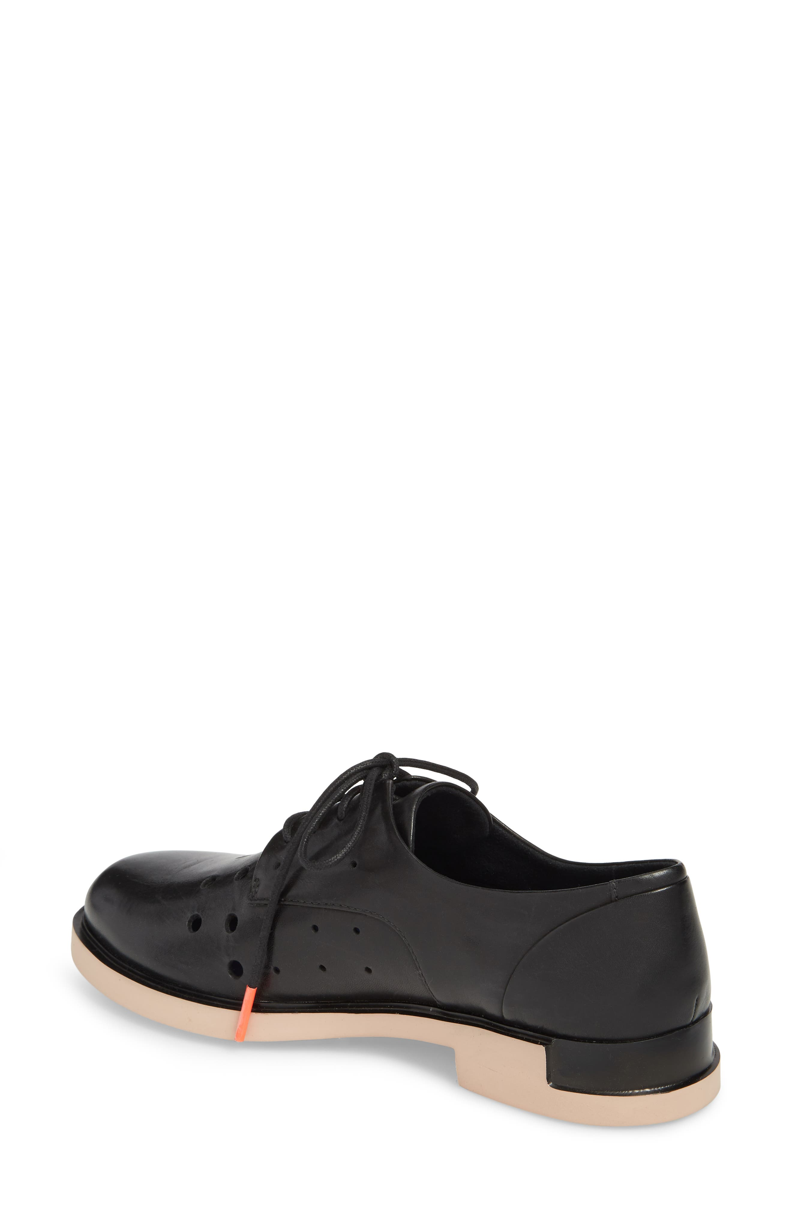 TWS Perforated Derby,                             Alternate thumbnail 2, color,                             BLACK LEATHER
