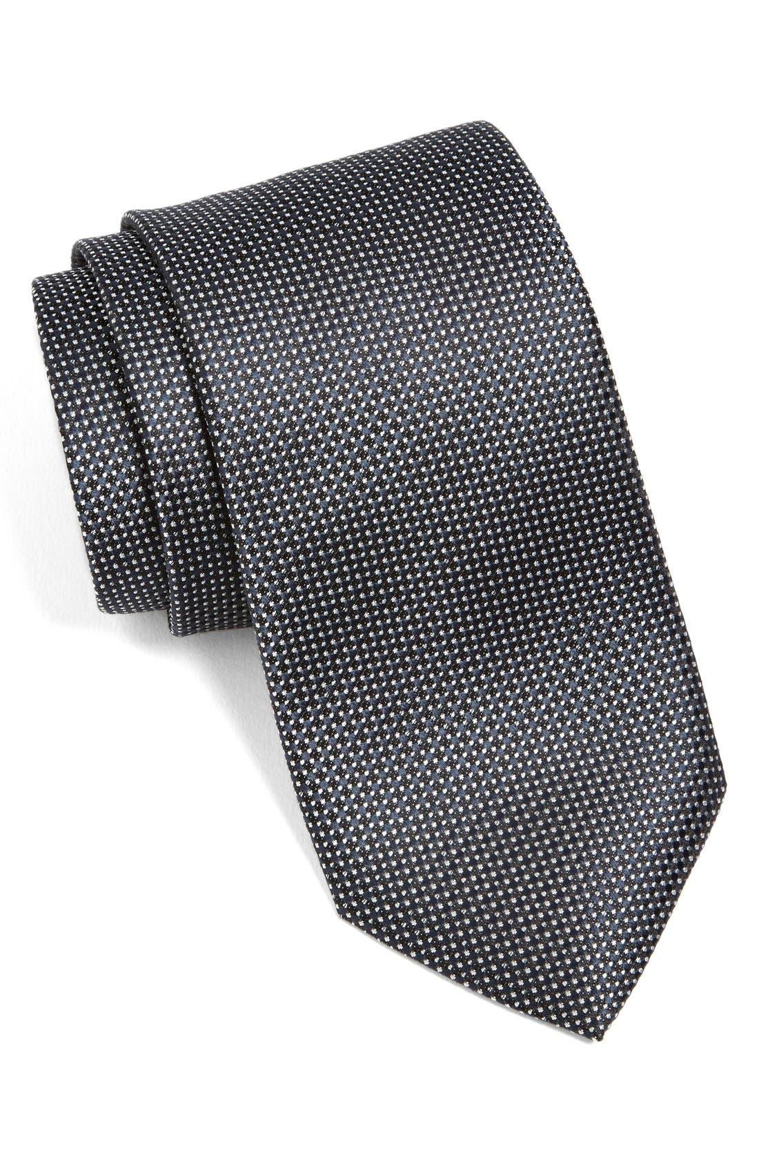 Woven Silk Tie,                         Main,                         color, 001