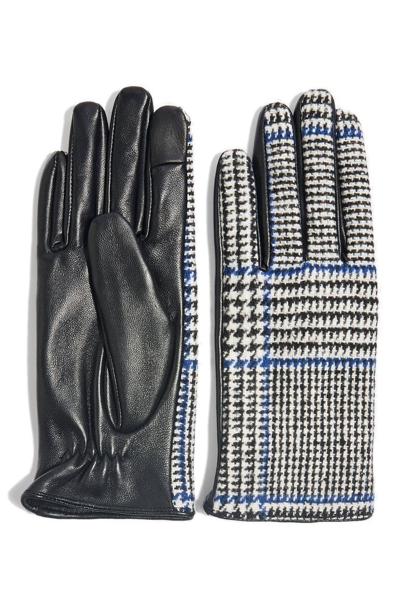 61651b08d6d07 Houndstooth Faux Leather Touchscreen Gloves by Topshop
