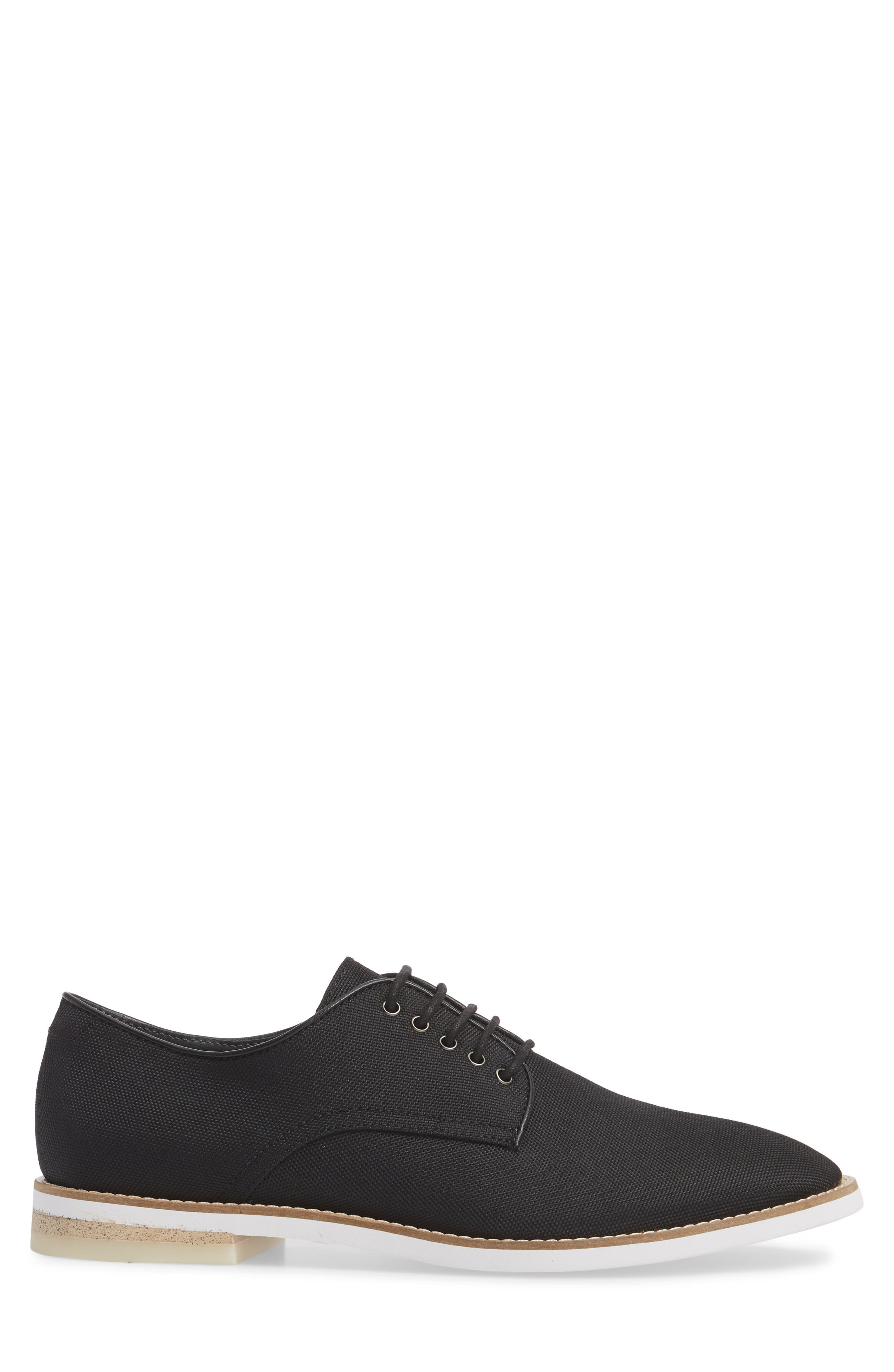 Atlee Plain Toe Derby,                             Alternate thumbnail 3, color,                             BLACK SYNTHETIC