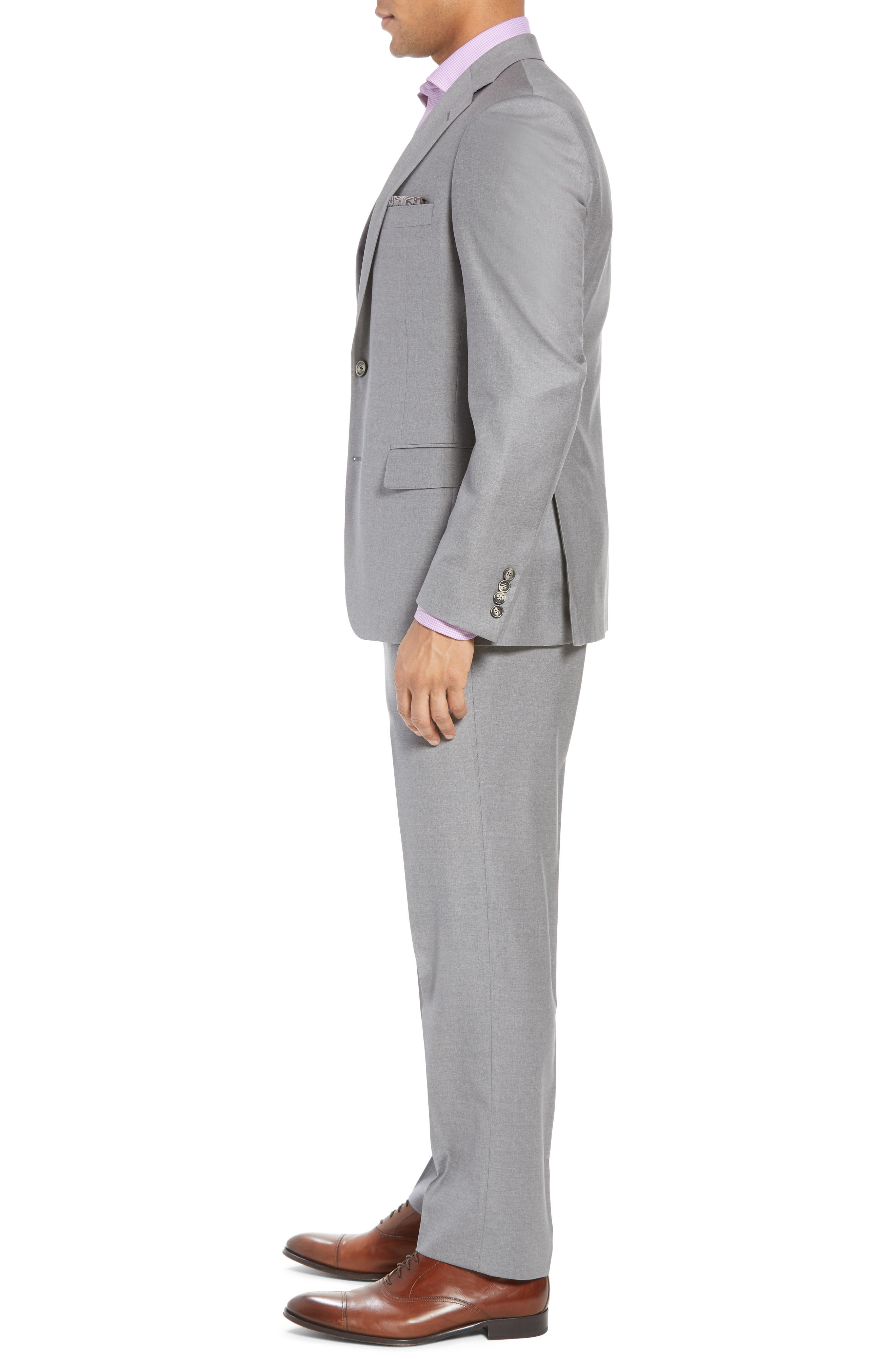 Bennet Classic Fit Solid Wool Suit,                             Alternate thumbnail 3, color,                             020
