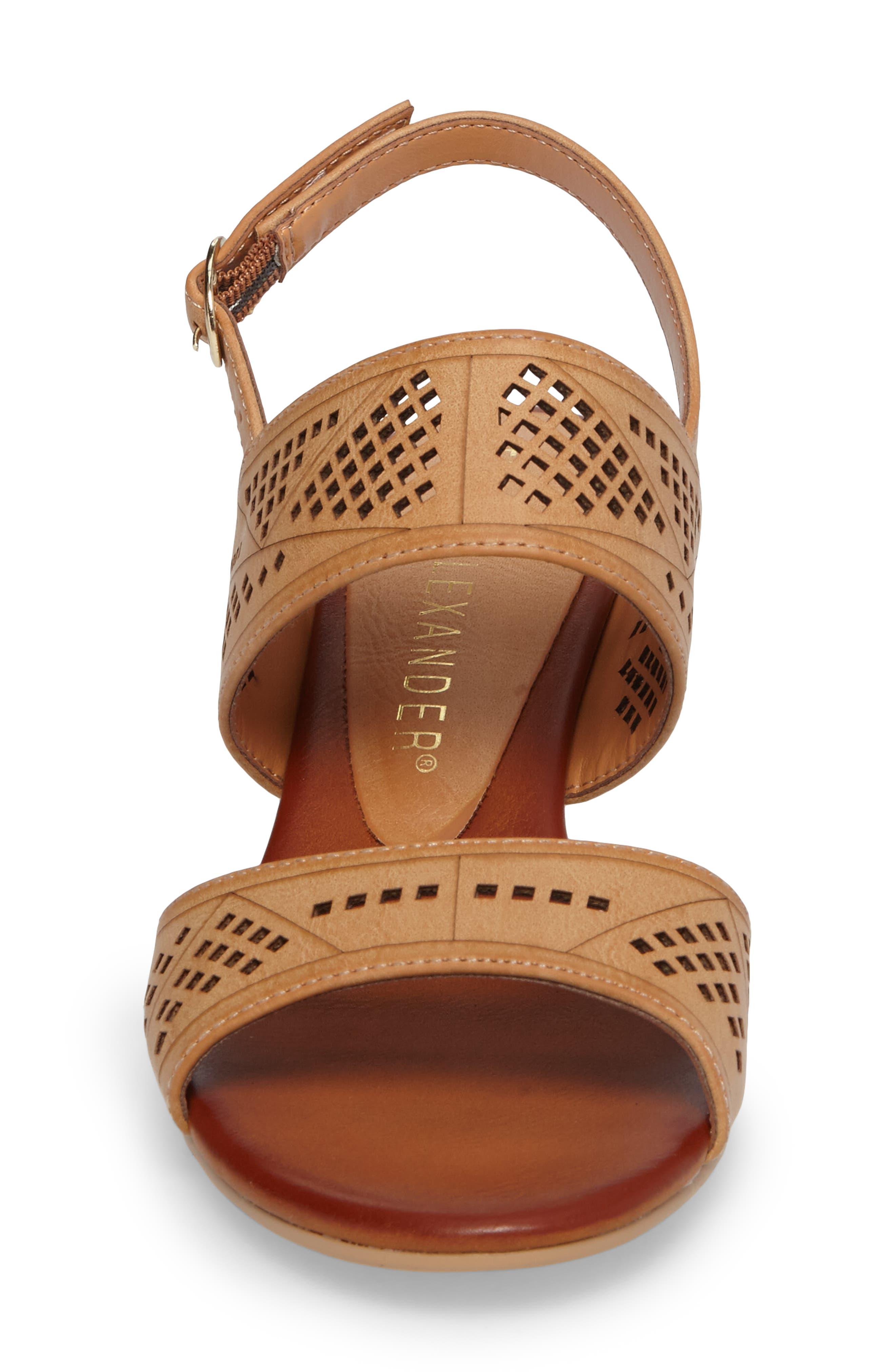 Sparce Perforated Wedge Sandal,                             Alternate thumbnail 8, color,