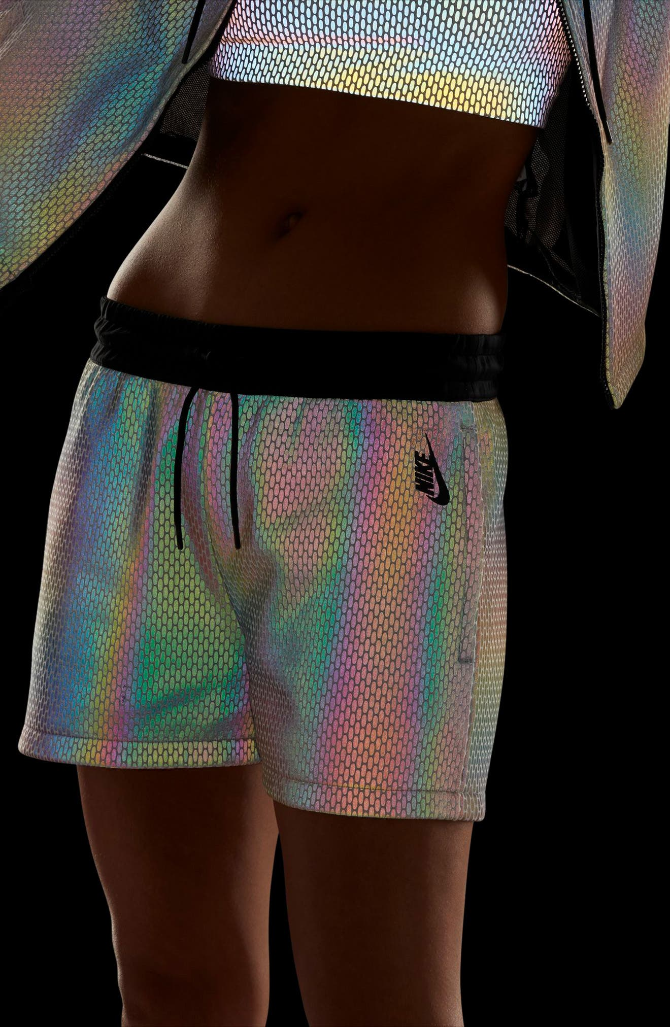 NikeLab Oil Slick Shorts,                             Alternate thumbnail 4, color,                             100