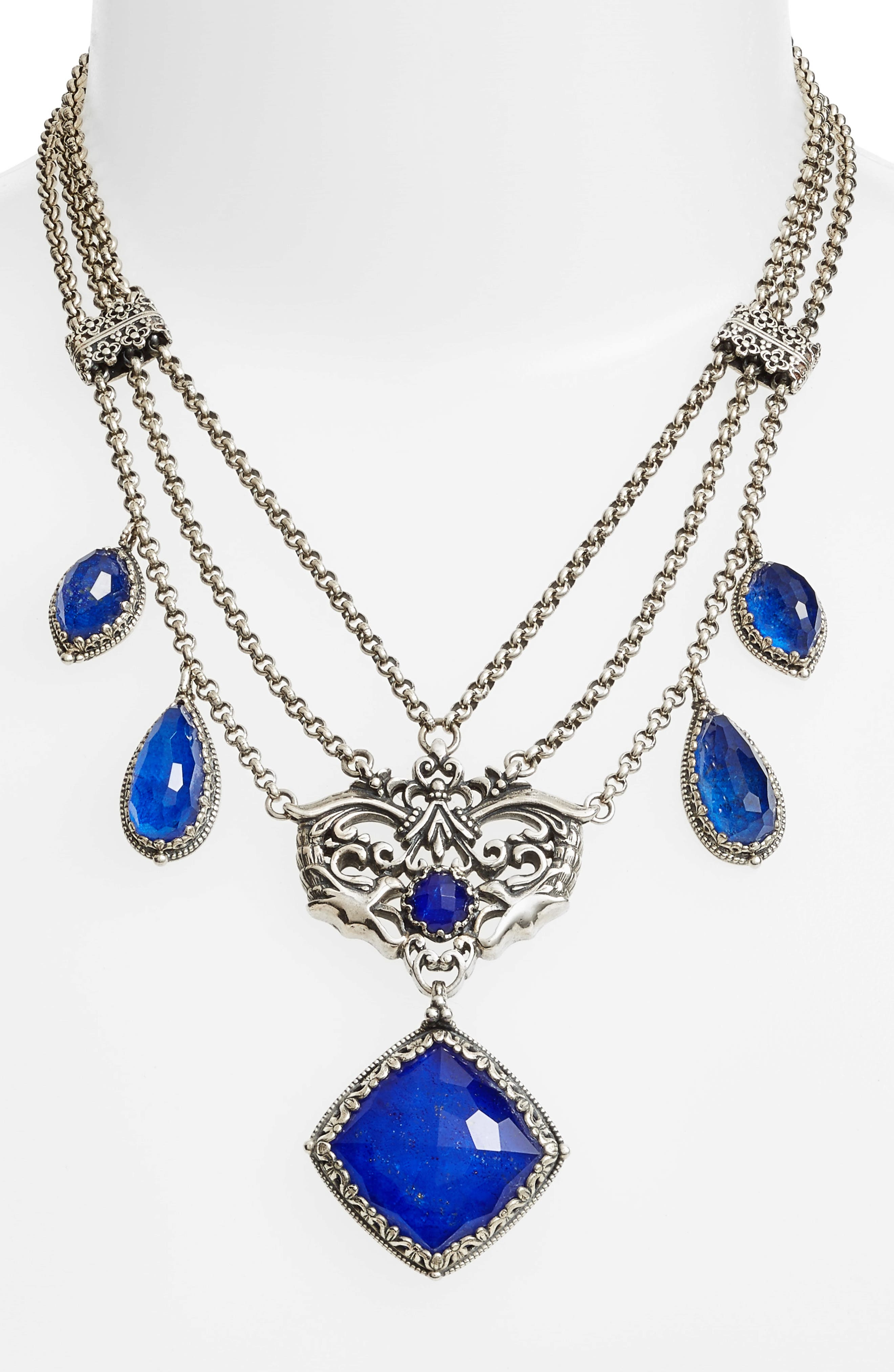 Andromeda Lapis Frontal Necklace,                             Alternate thumbnail 2, color,                             040