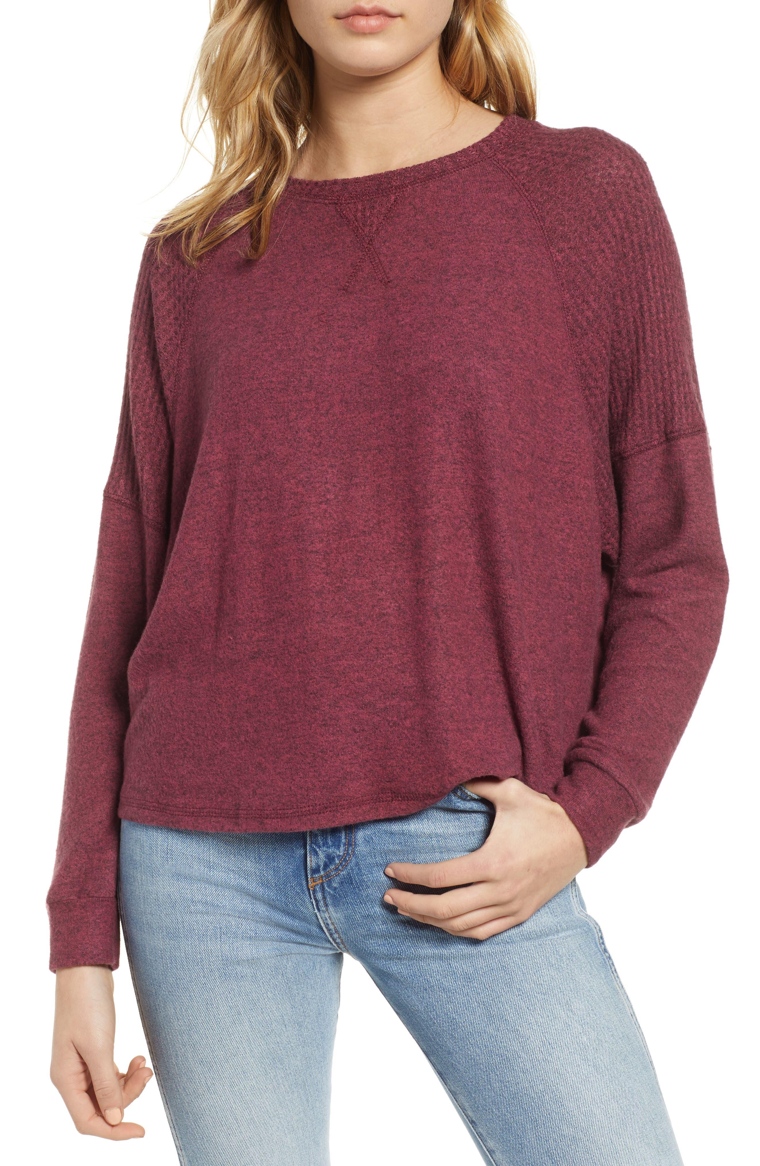 Head Start Sweatshirt, Main, color, CRANBERRY
