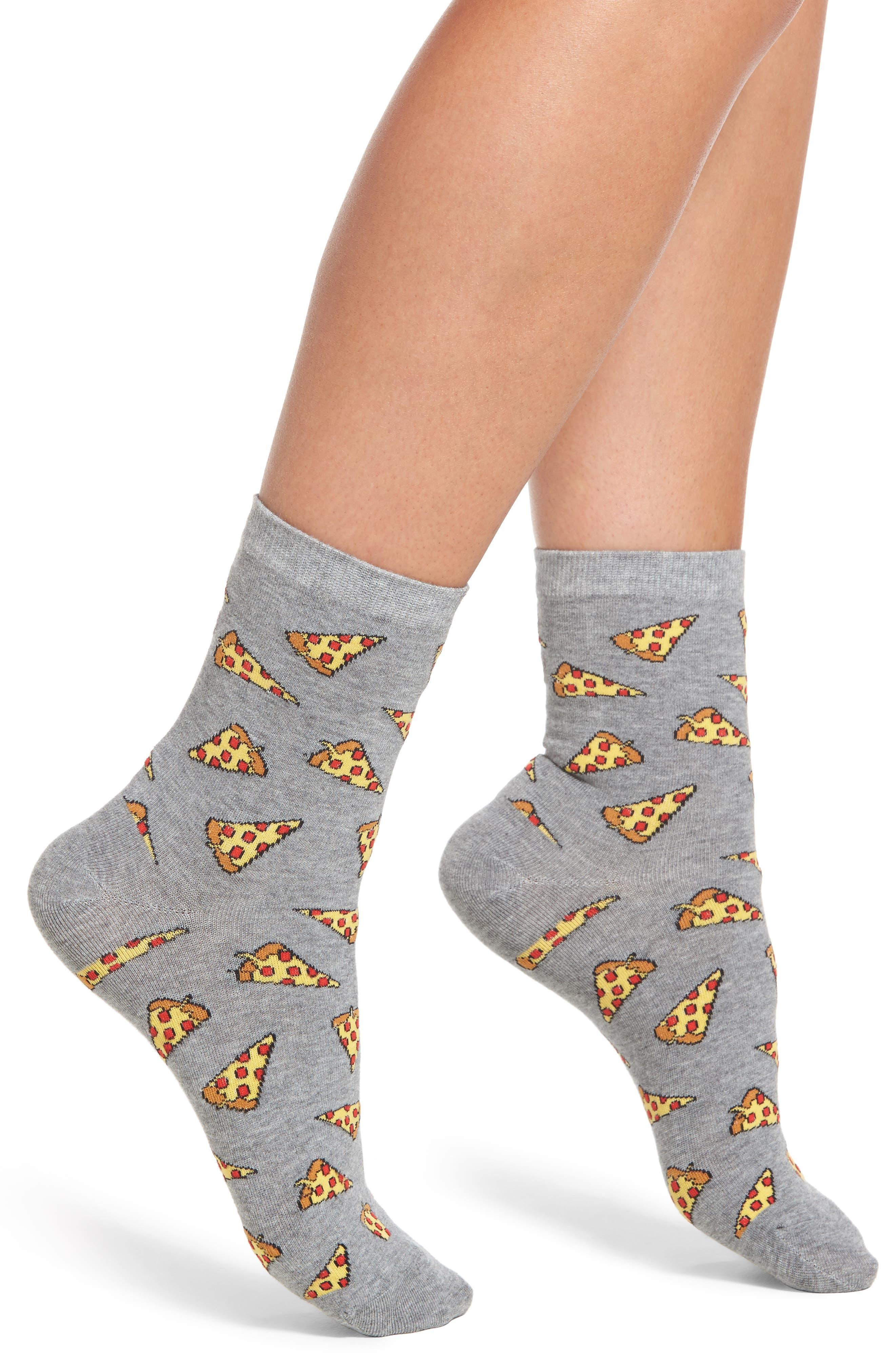 SOCKART Pizza Ankle Socks, Main, color, 060