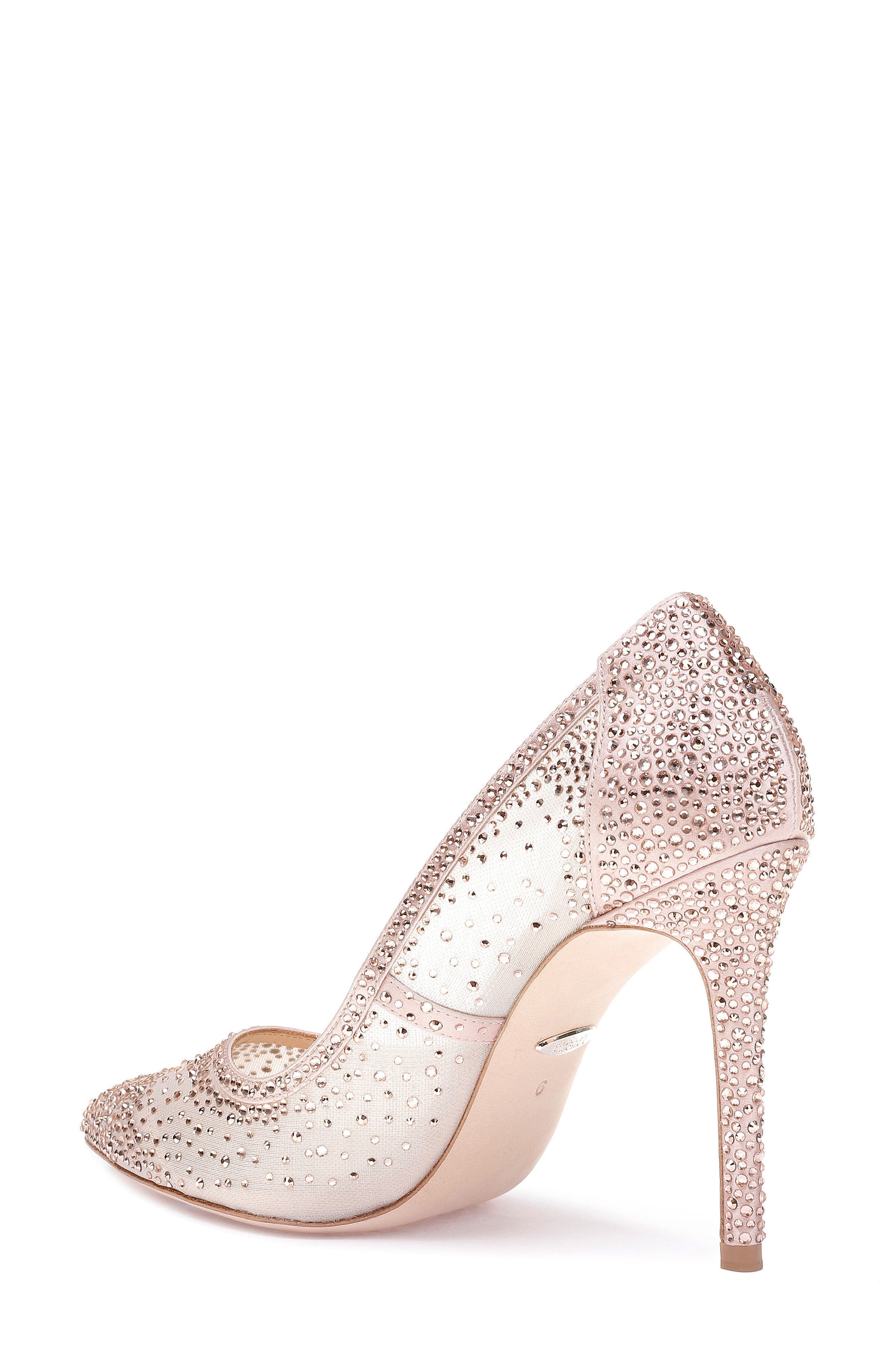 Weslee Pointy Toe Pump,                             Alternate thumbnail 2, color,                             BLUSH SATIN