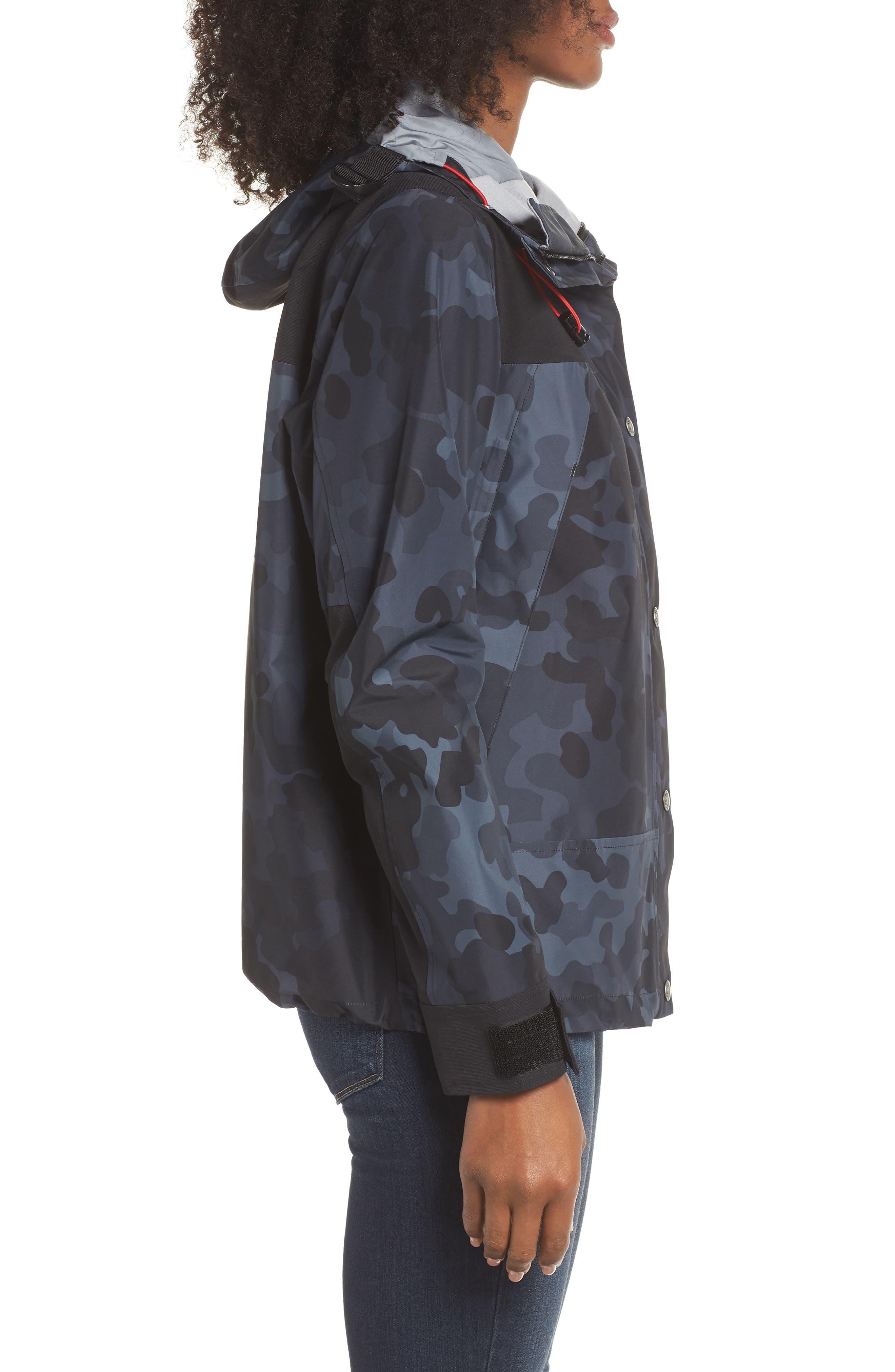 1990 Mountain Gore-Tex<sup>®</sup> Waterproof Jacket,                             Alternate thumbnail 3, color,                             TNF BLACK MACROFLECK PRINT