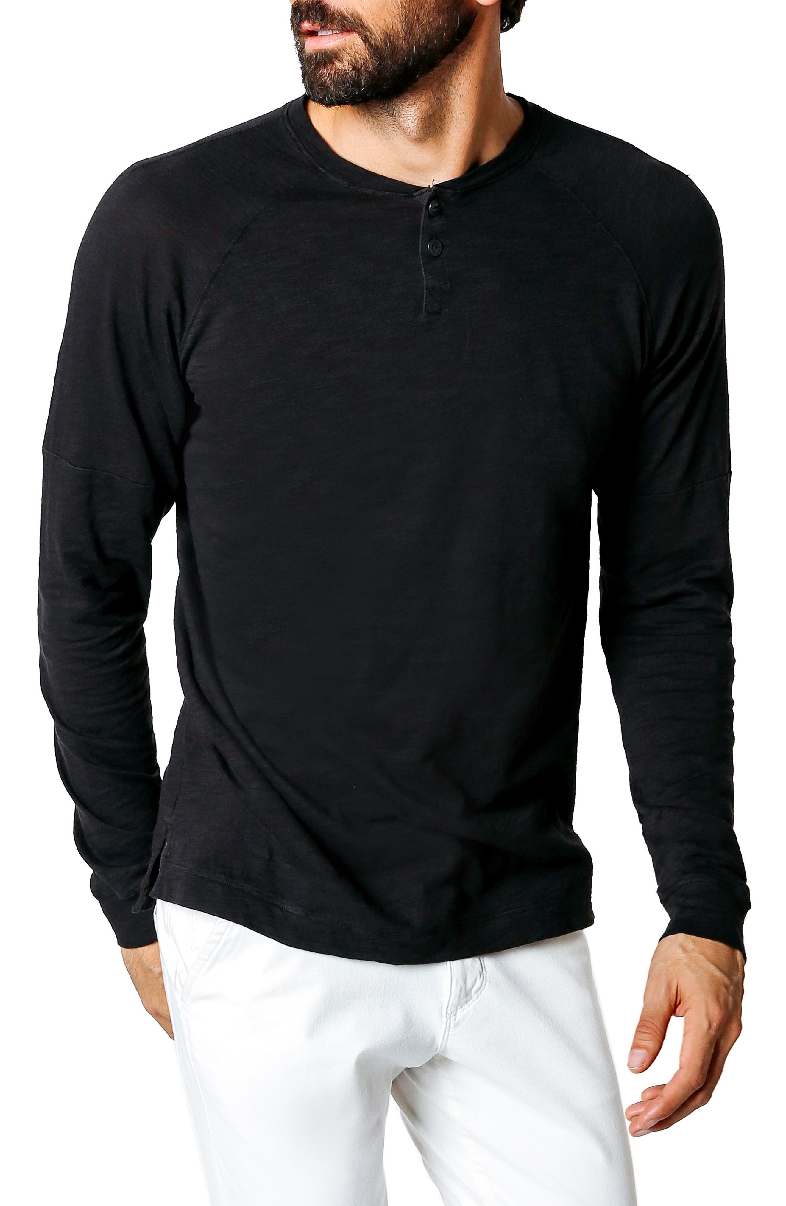 Athletic Slim Fit Henley,                         Main,                         color, 001