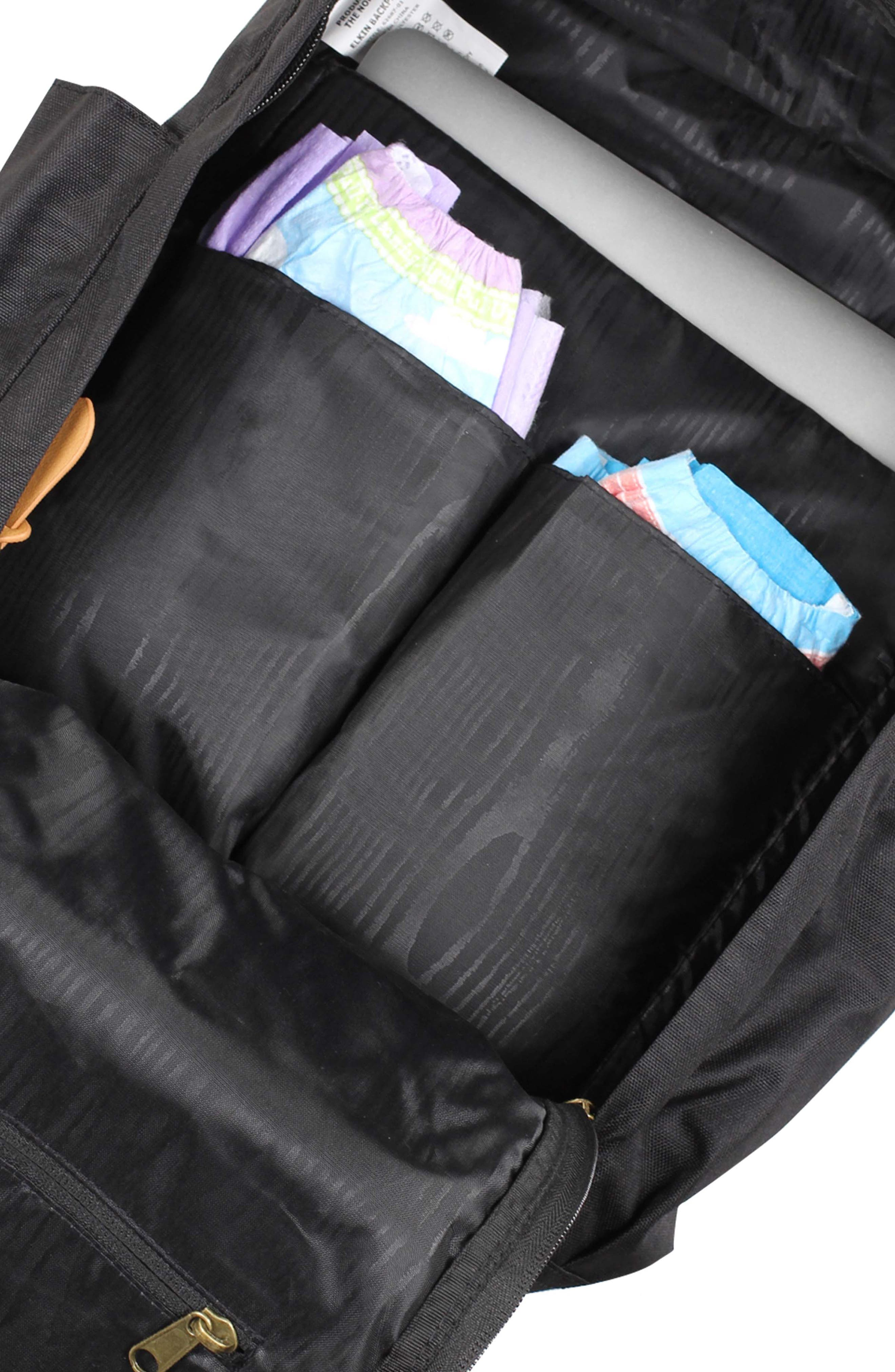Elkin Diaper Backpack,                             Alternate thumbnail 3, color,                             BLACK