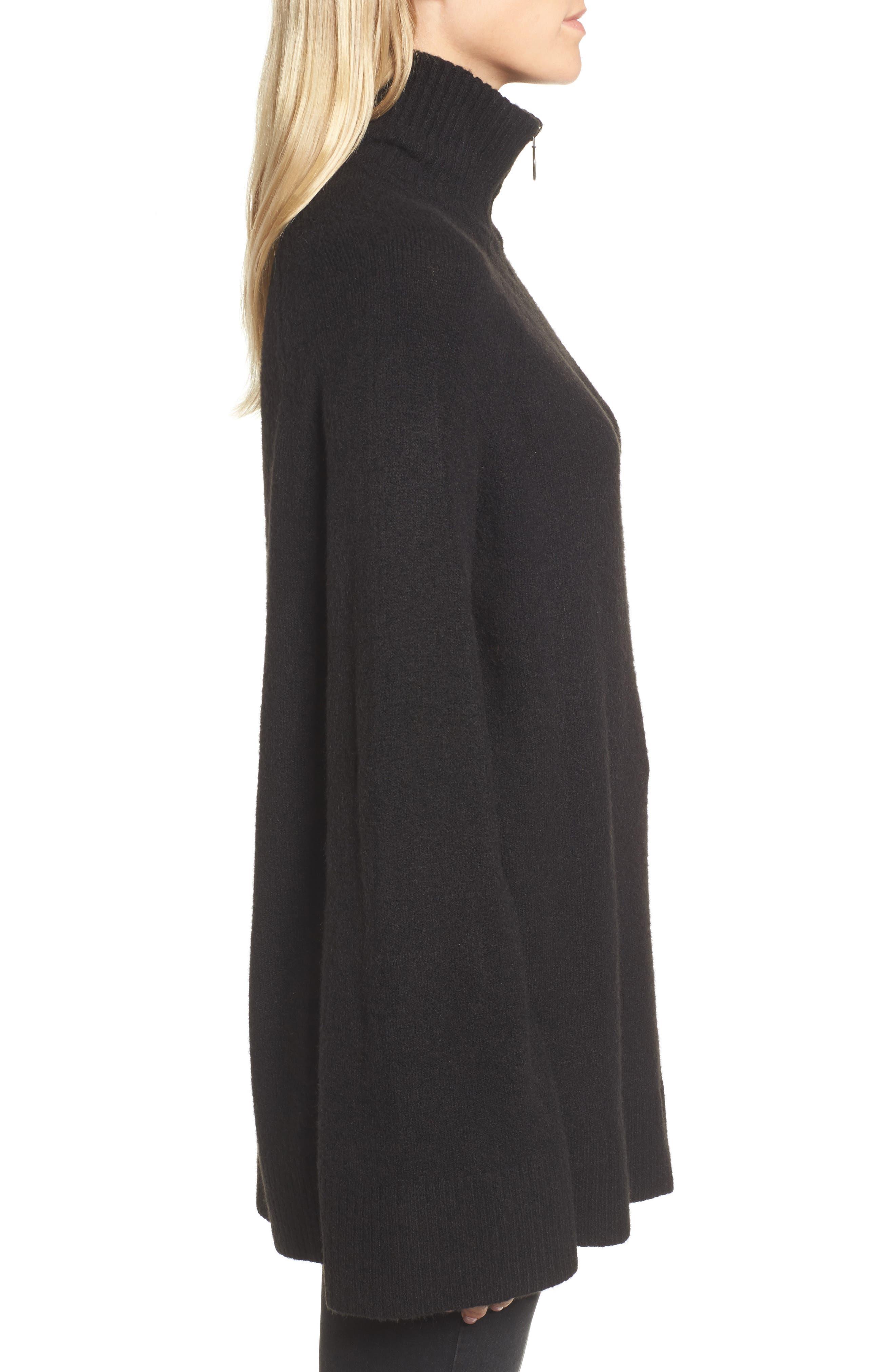 Half Zip Pullover,                             Alternate thumbnail 3, color,                             001