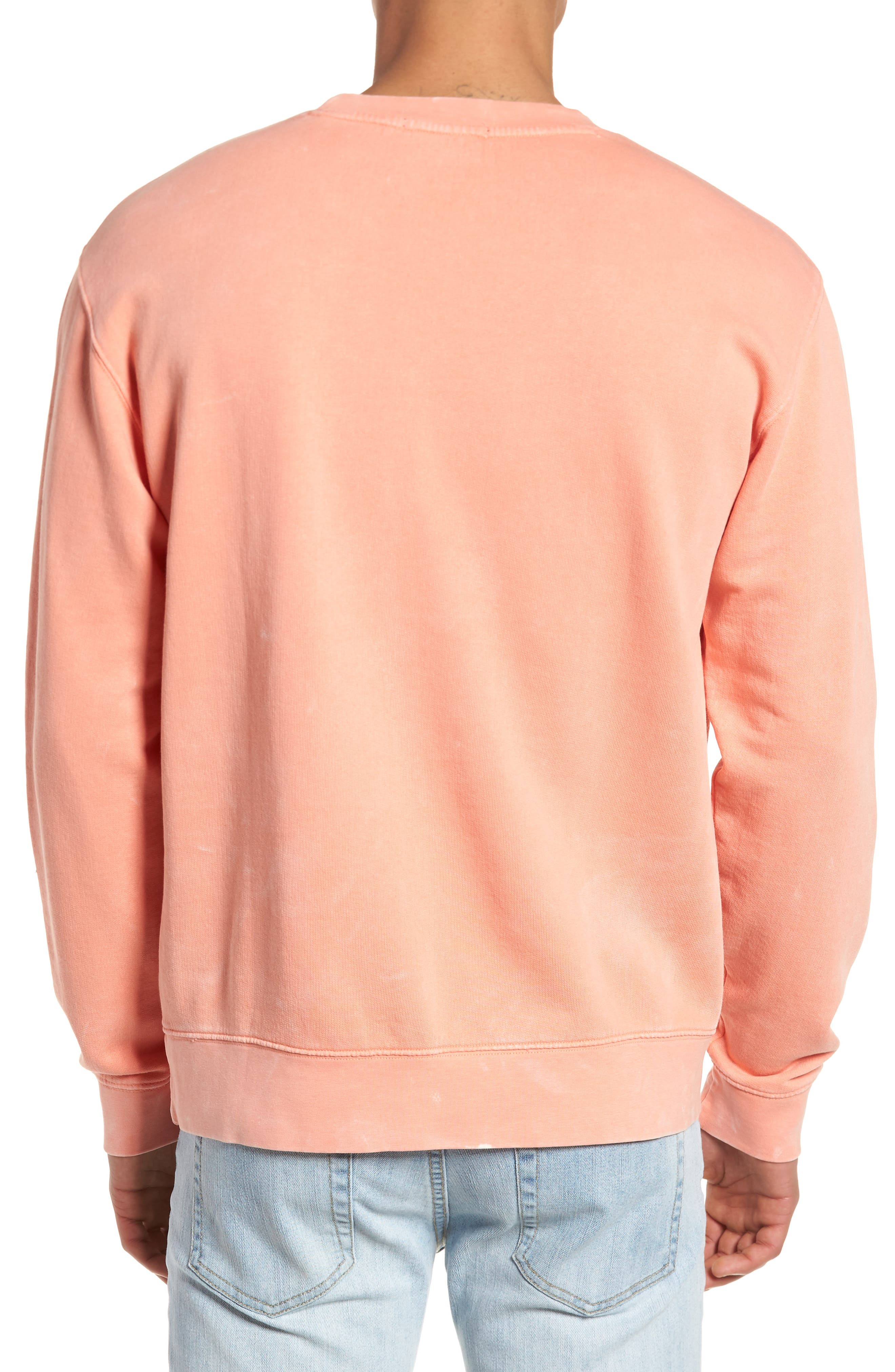 Faded Pigment-Dyed Sweatshirt,                             Alternate thumbnail 2, color,