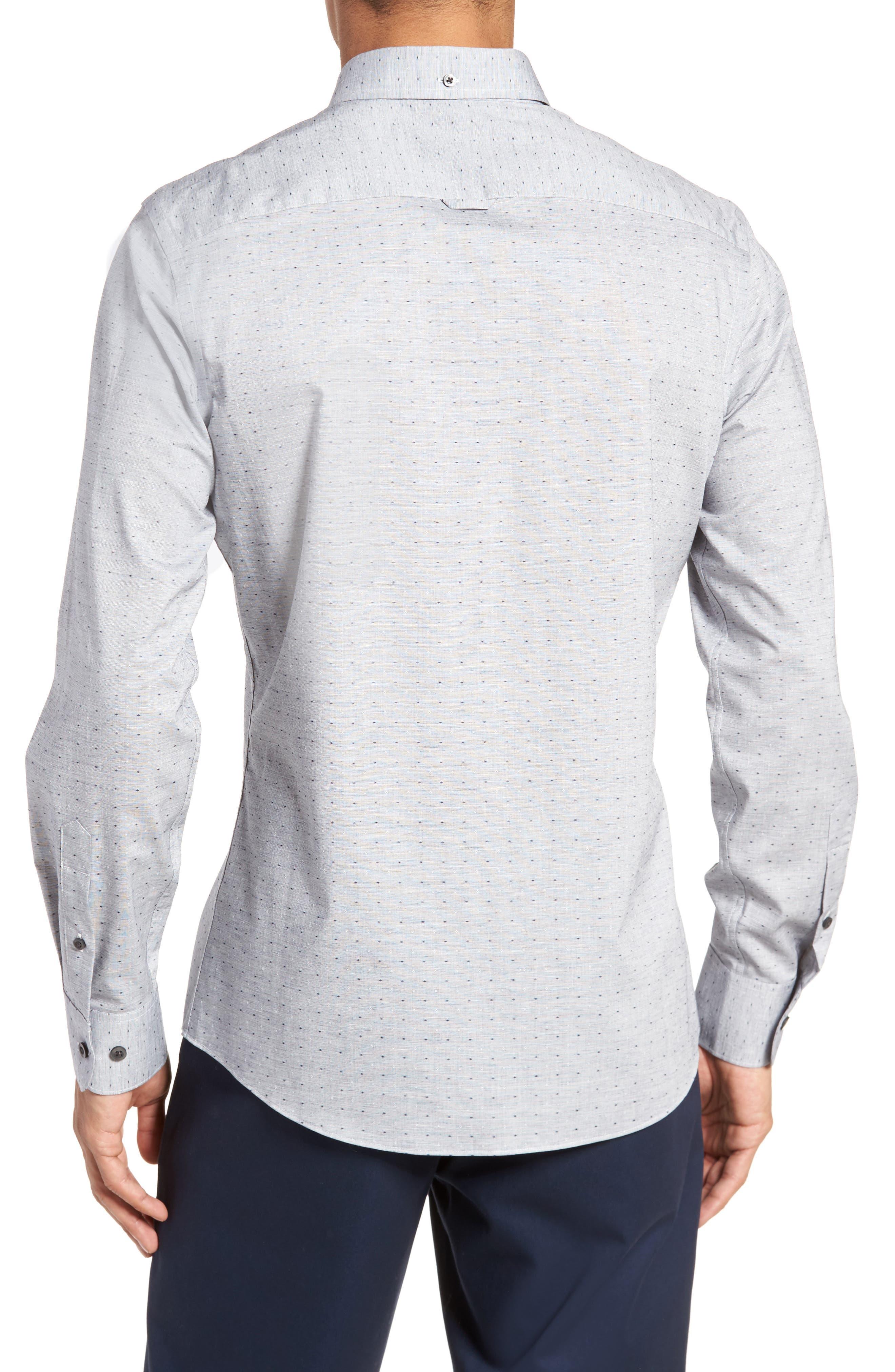 Trim Fit Dobby Sport Shirt,                             Alternate thumbnail 2, color,