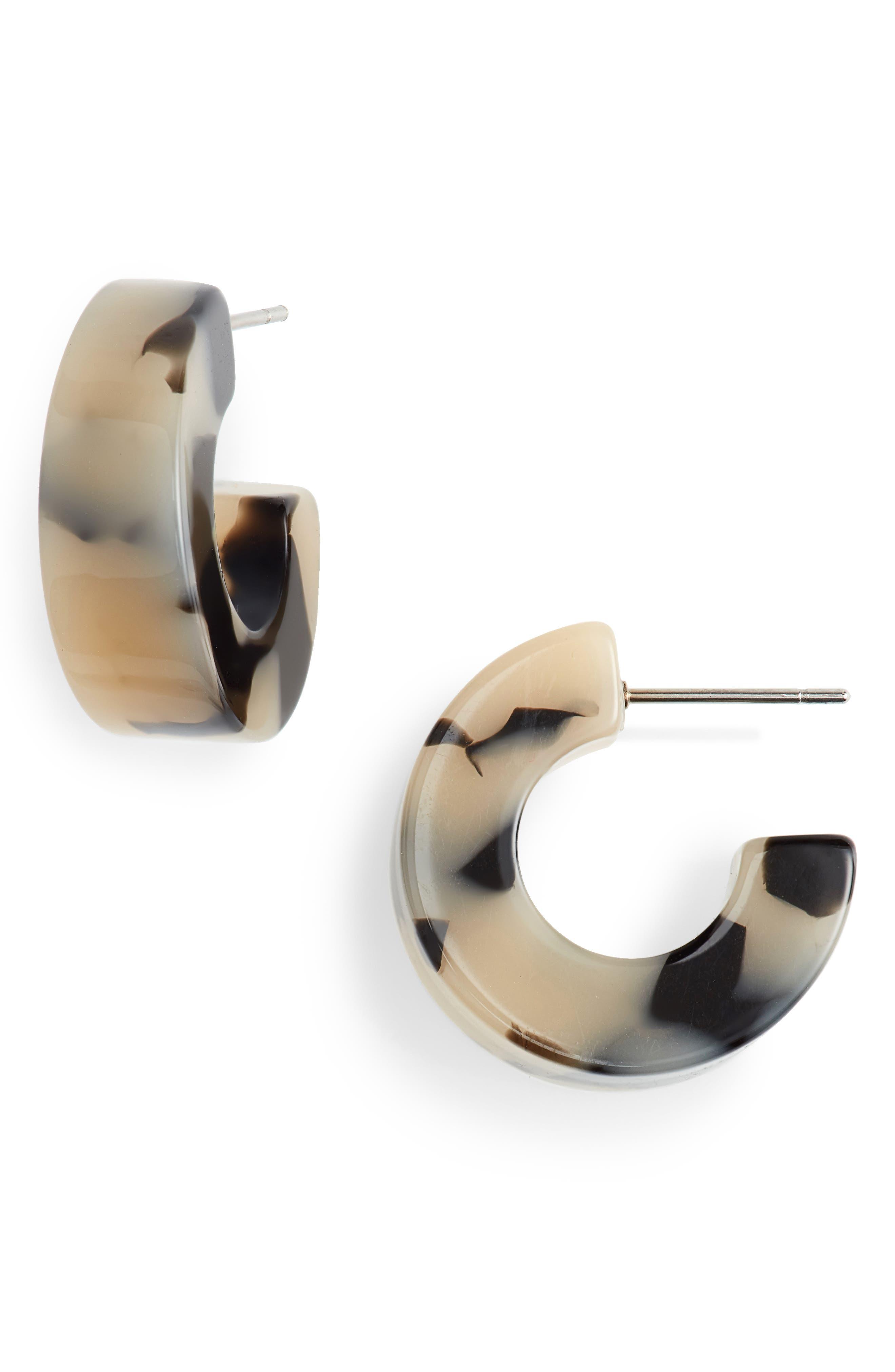 Rachel Comey Cuba Hoop Earrings In Dalmatian