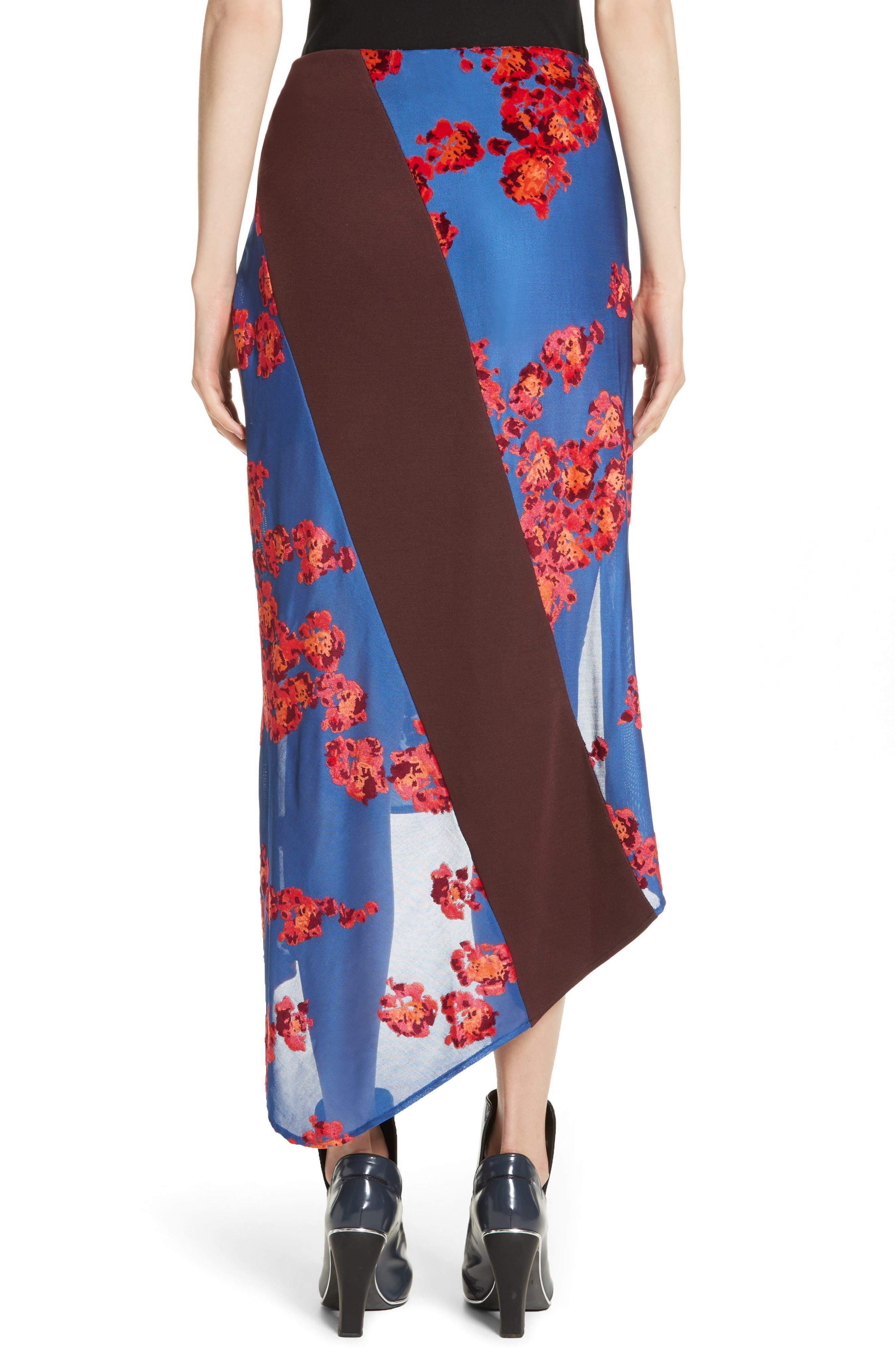 Jacquard Jersey Asymmetrical Skirt,                             Alternate thumbnail 2, color,                             400