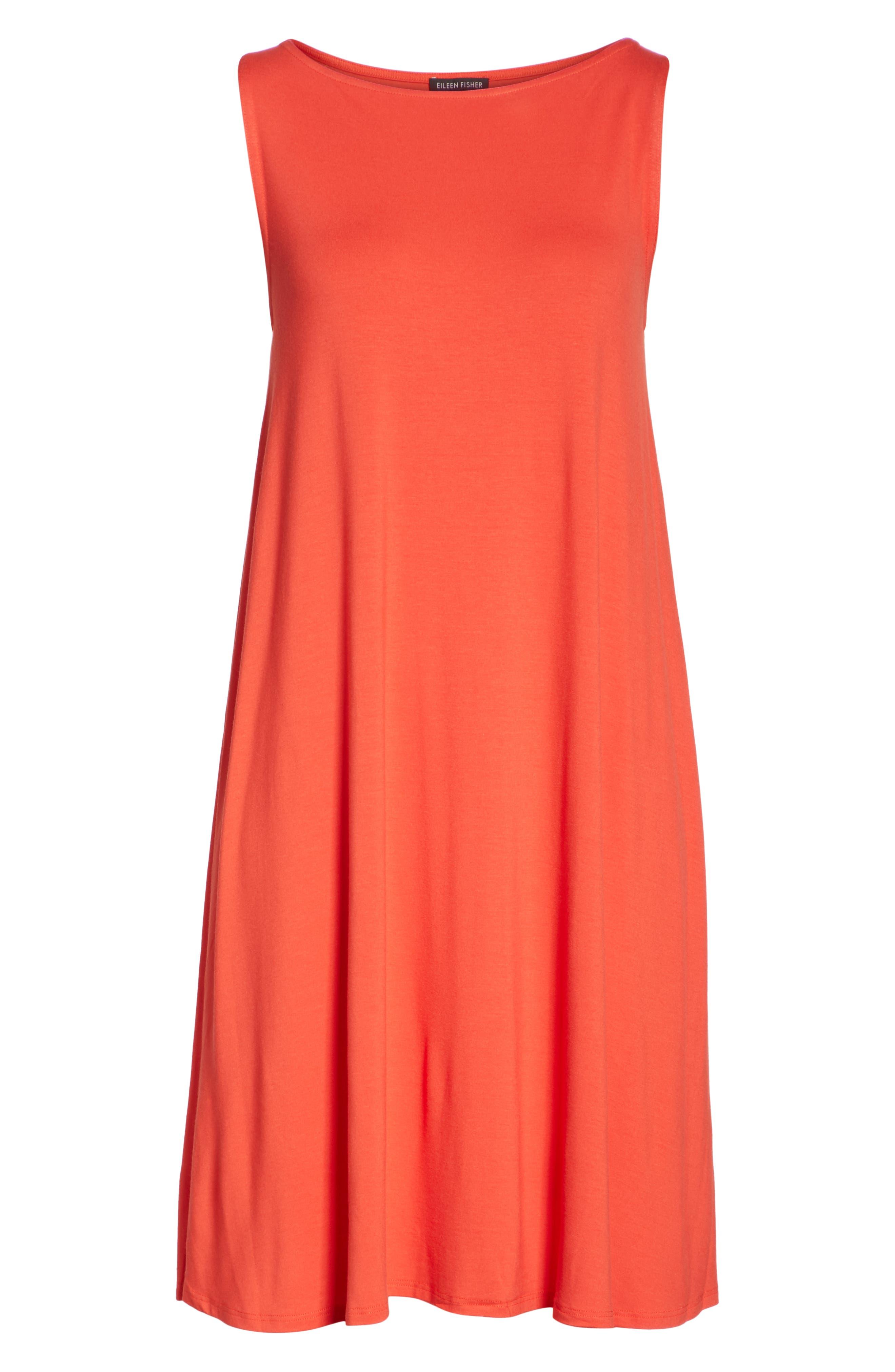 Lightweight Jersey Shift Dress,                             Alternate thumbnail 6, color,                             600
