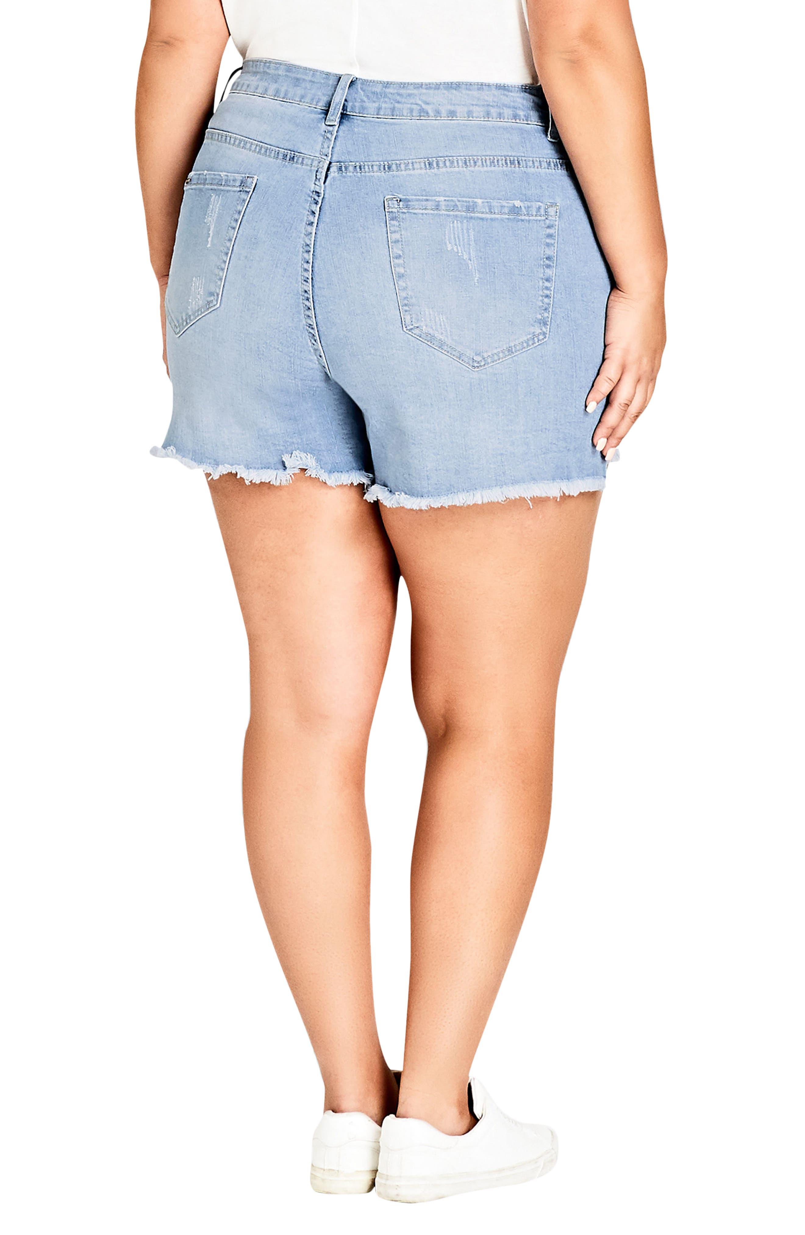 Sweet Cut Out Denim Shorts,                             Alternate thumbnail 2, color,                             401