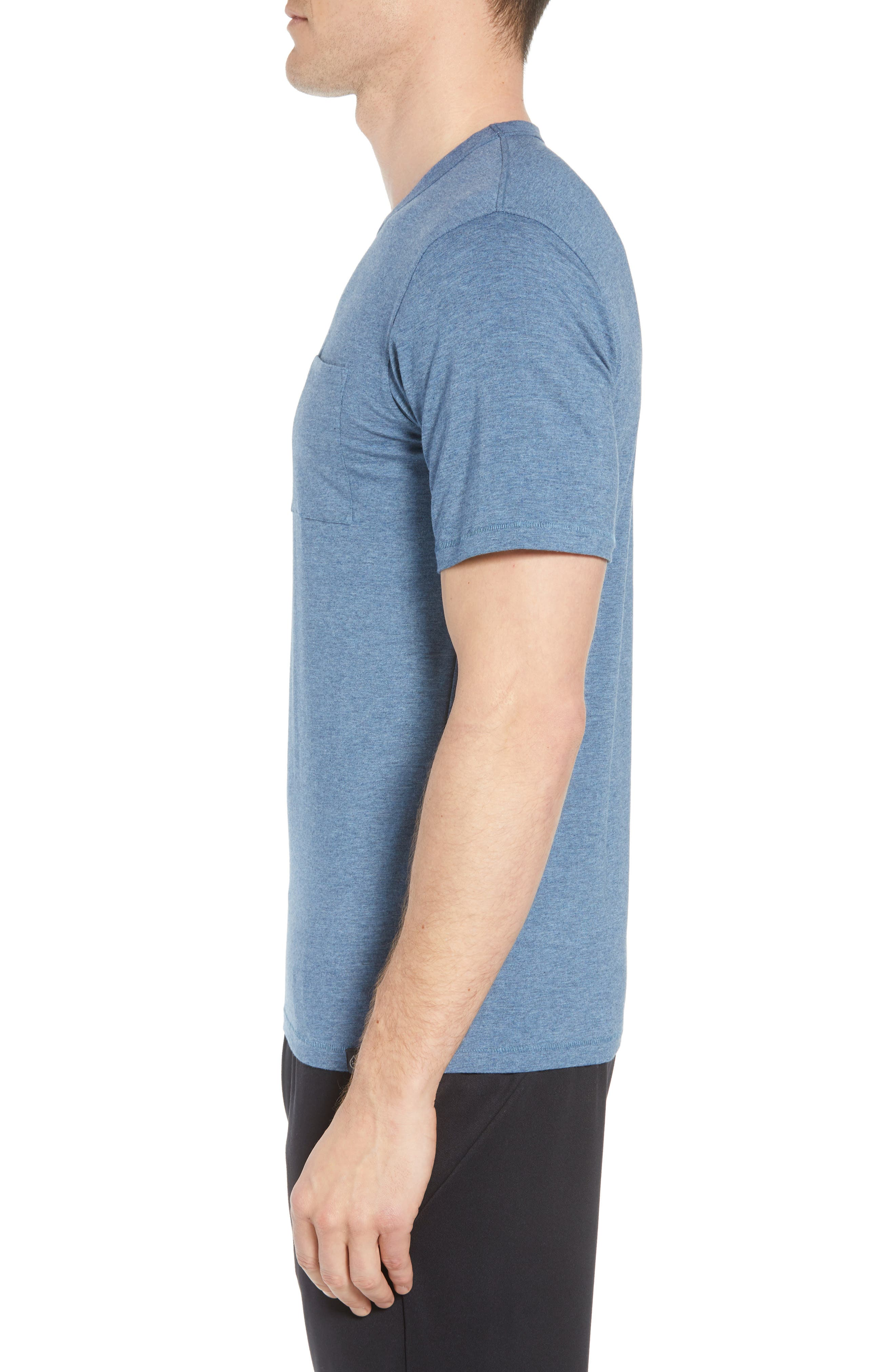 Nantucket Fitted T-Shirt,                             Alternate thumbnail 3, color,                             INDIGO HEATHER