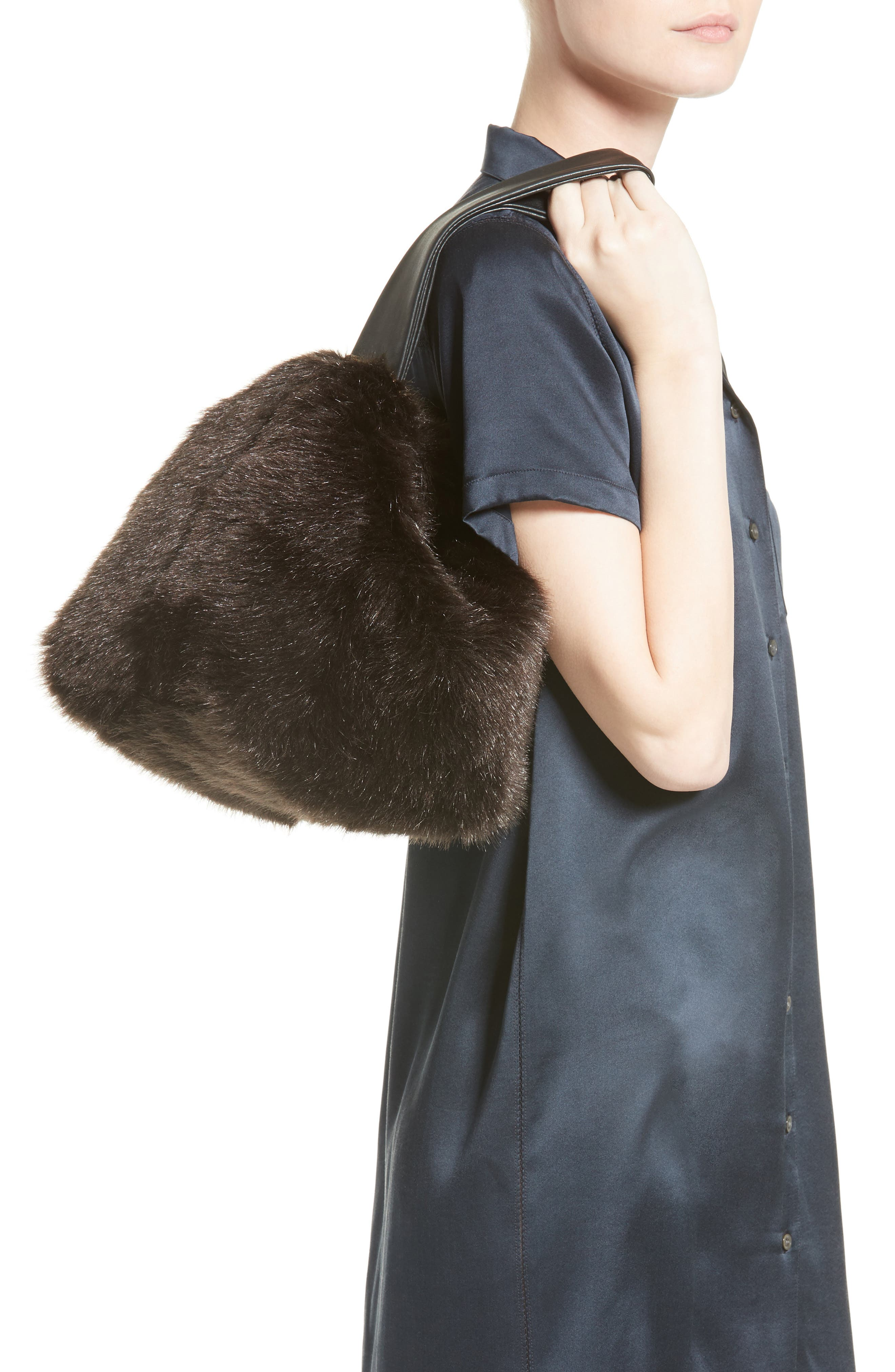Tissue Pouch Faux Fur Bag,                             Alternate thumbnail 2, color,                             200