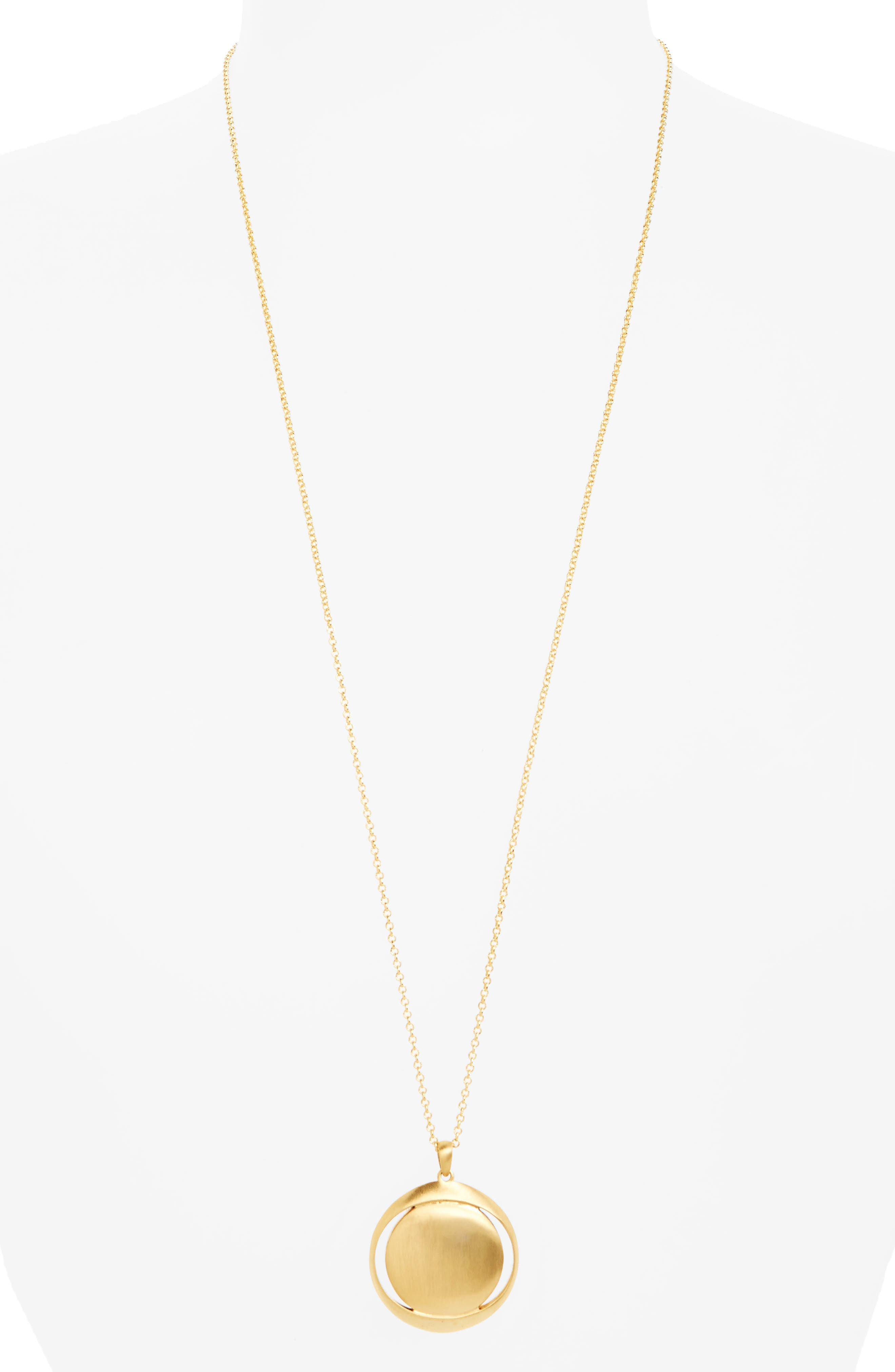 Plain Lapa Pendant Necklace,                         Main,                         color,