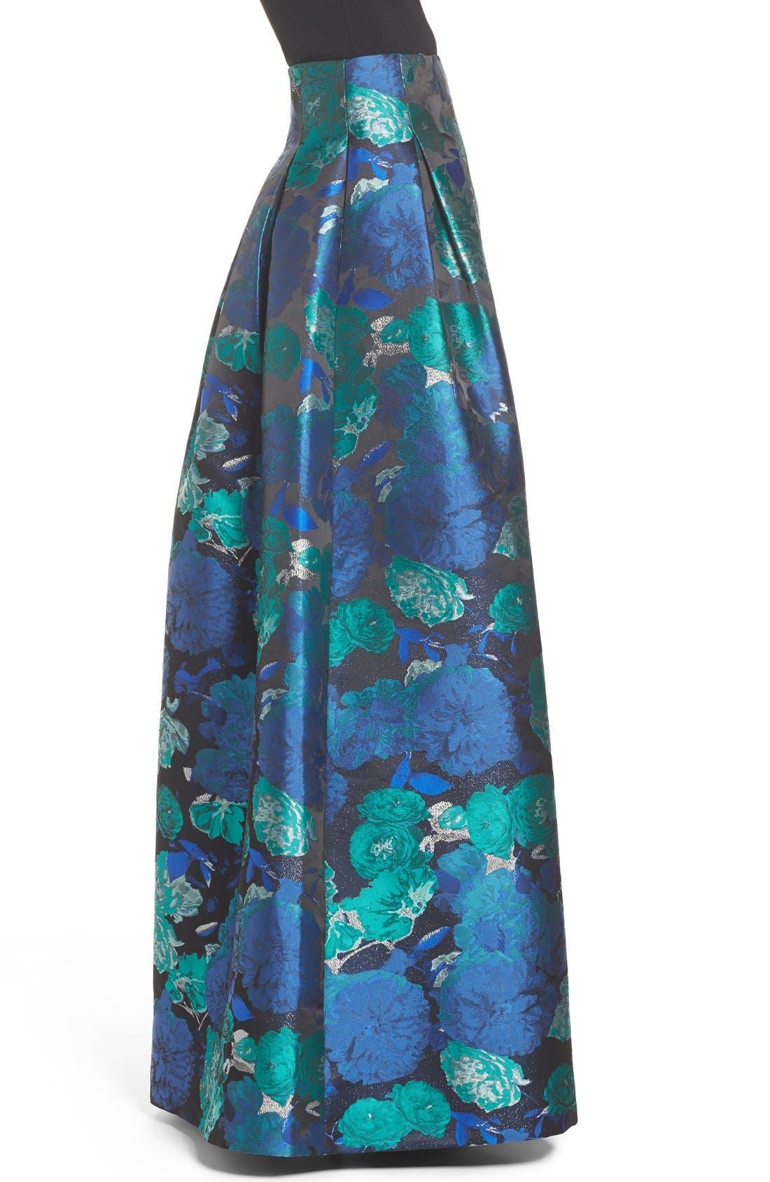 Floral Jacquard Ball Skirt,                             Alternate thumbnail 5, color,                             442