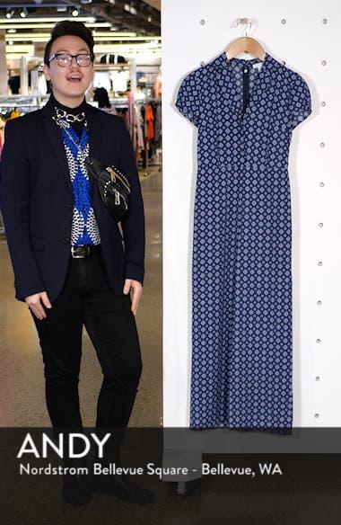 Print Button Front Jumpsuit, sales video thumbnail