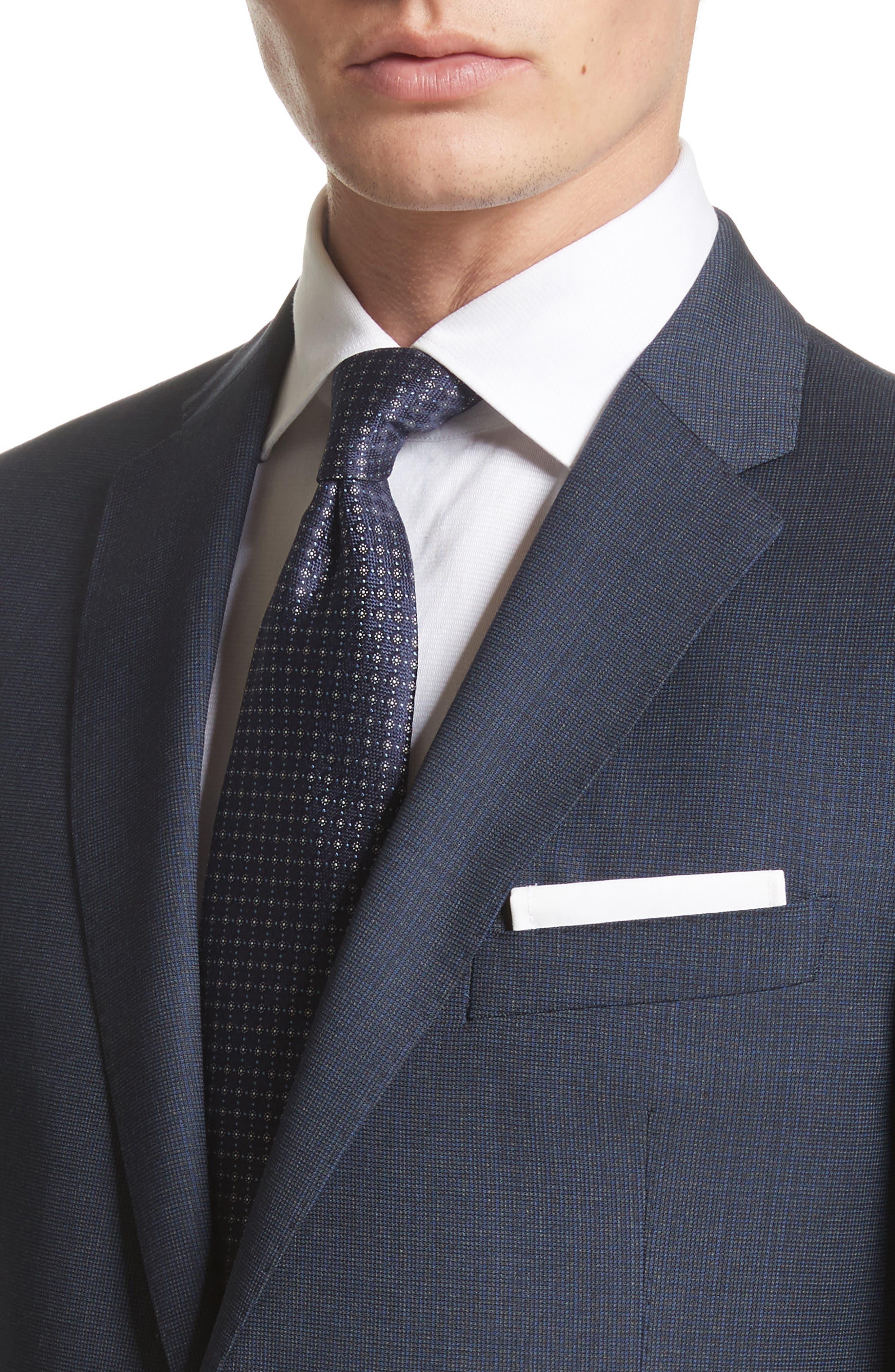 Emporio Armani M-Line Trim Fit Solid Wool Suit,                             Alternate thumbnail 4, color,