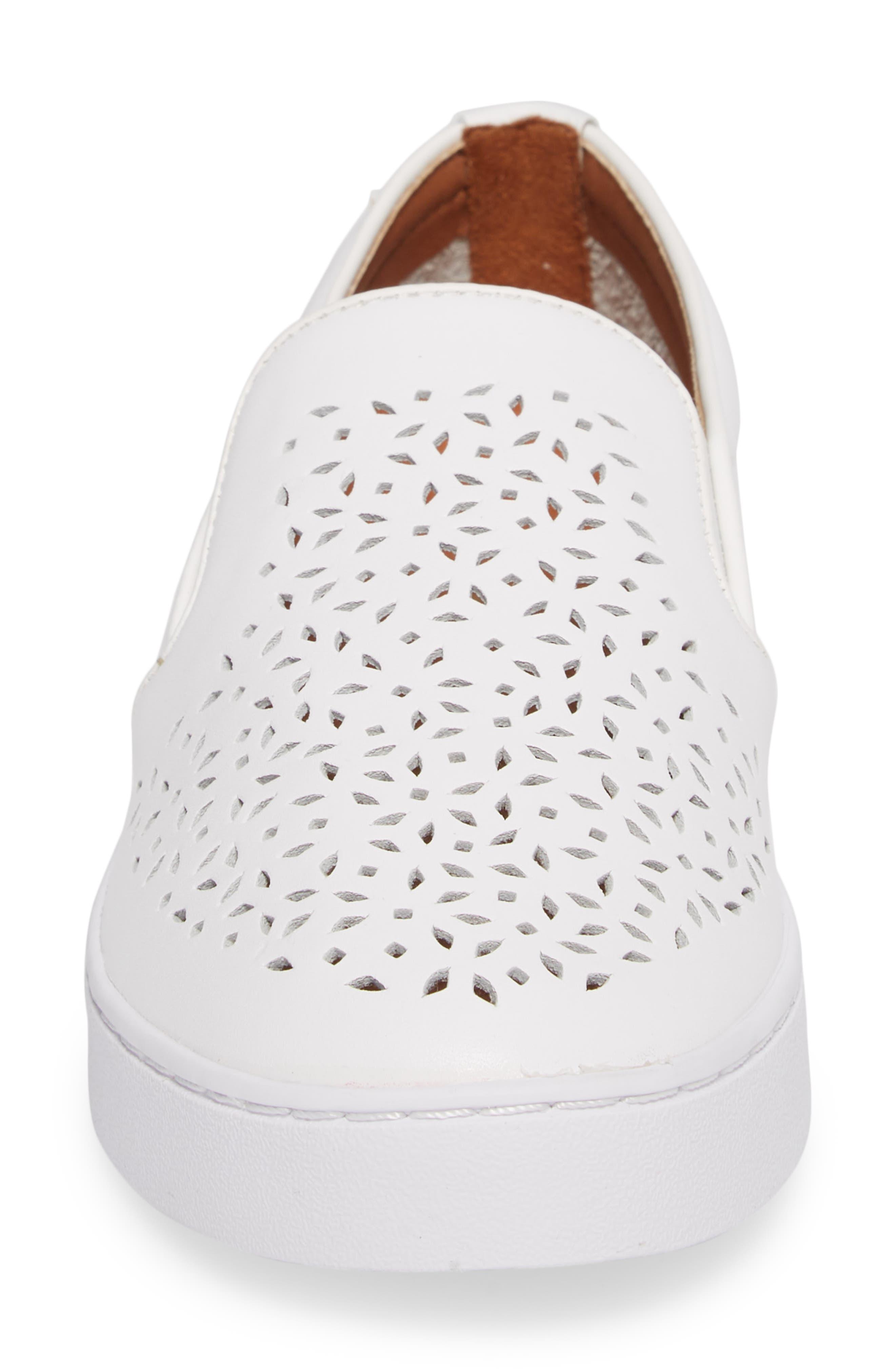 Perforated Slip-On Sneaker,                             Alternate thumbnail 4, color,                             101