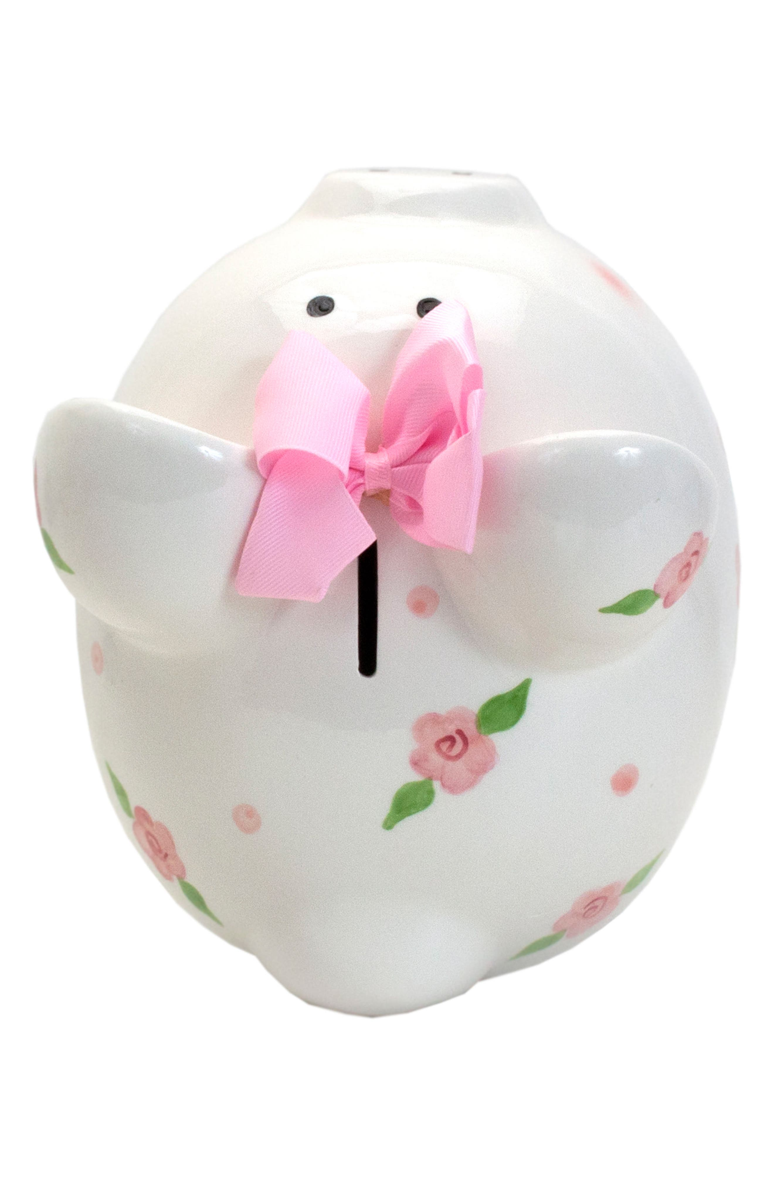 Embellished Piggy Bank,                             Alternate thumbnail 4, color,                             WHITE