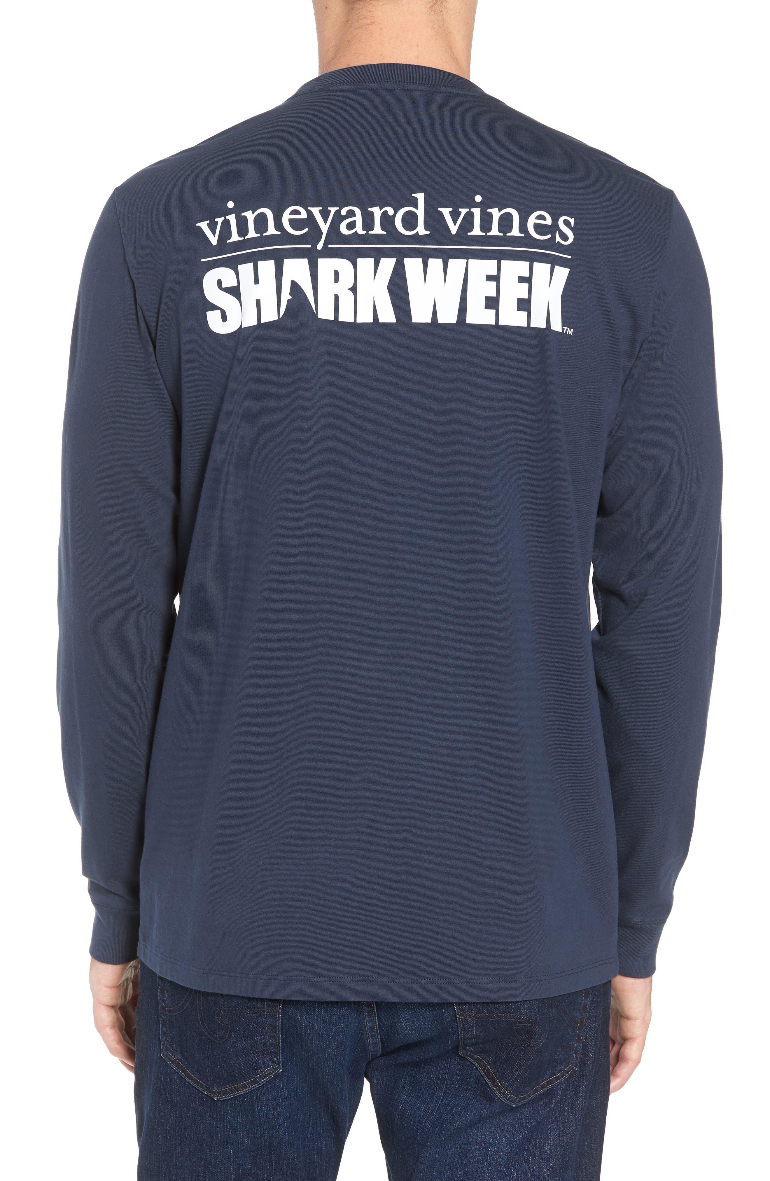 x Shark Week<sup>™</sup> Logo Long Sleeve Pocket T-Shirt,                             Alternate thumbnail 2, color,                             406