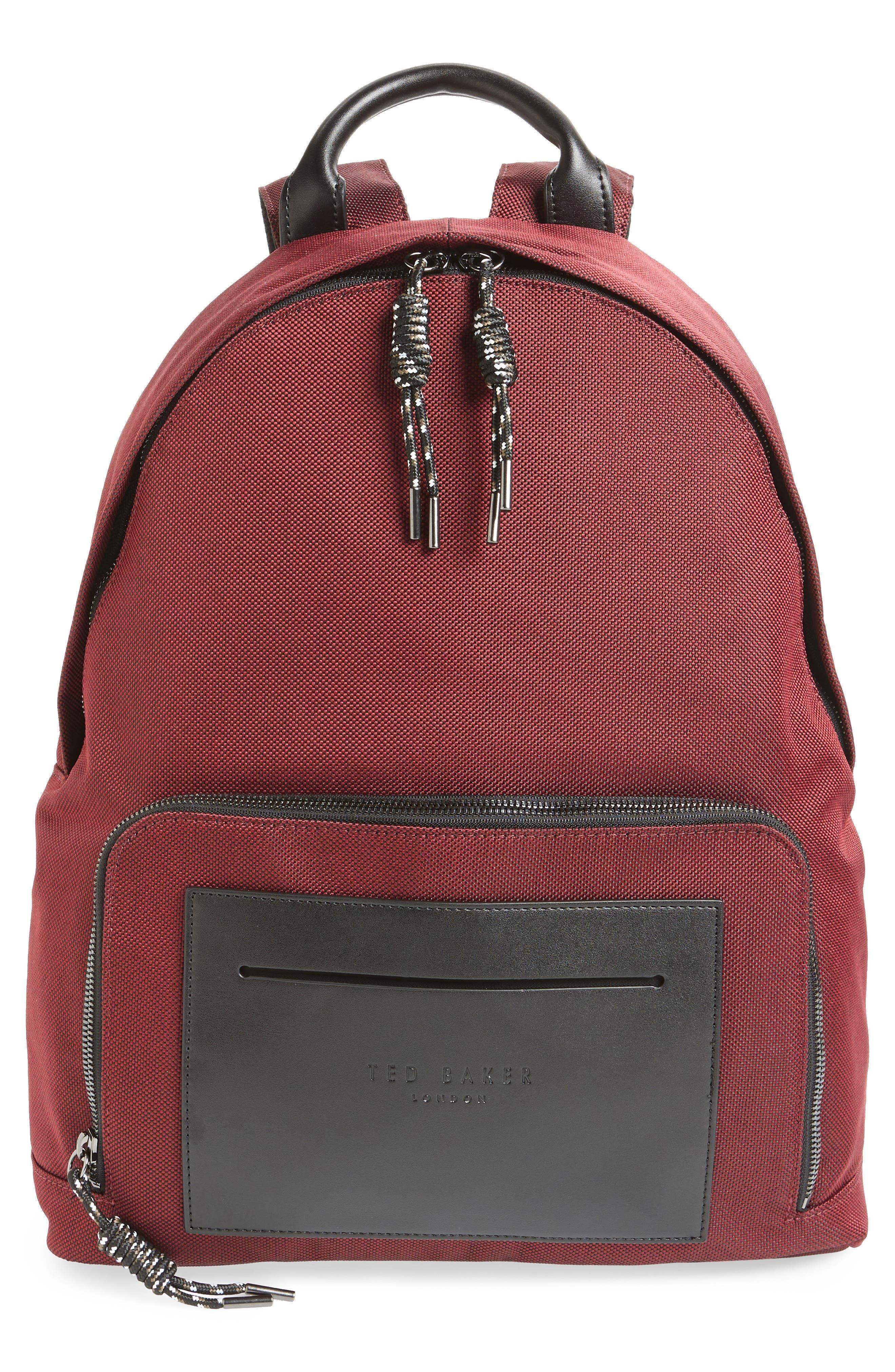Filer Backpack,                             Main thumbnail 1, color,                             RED