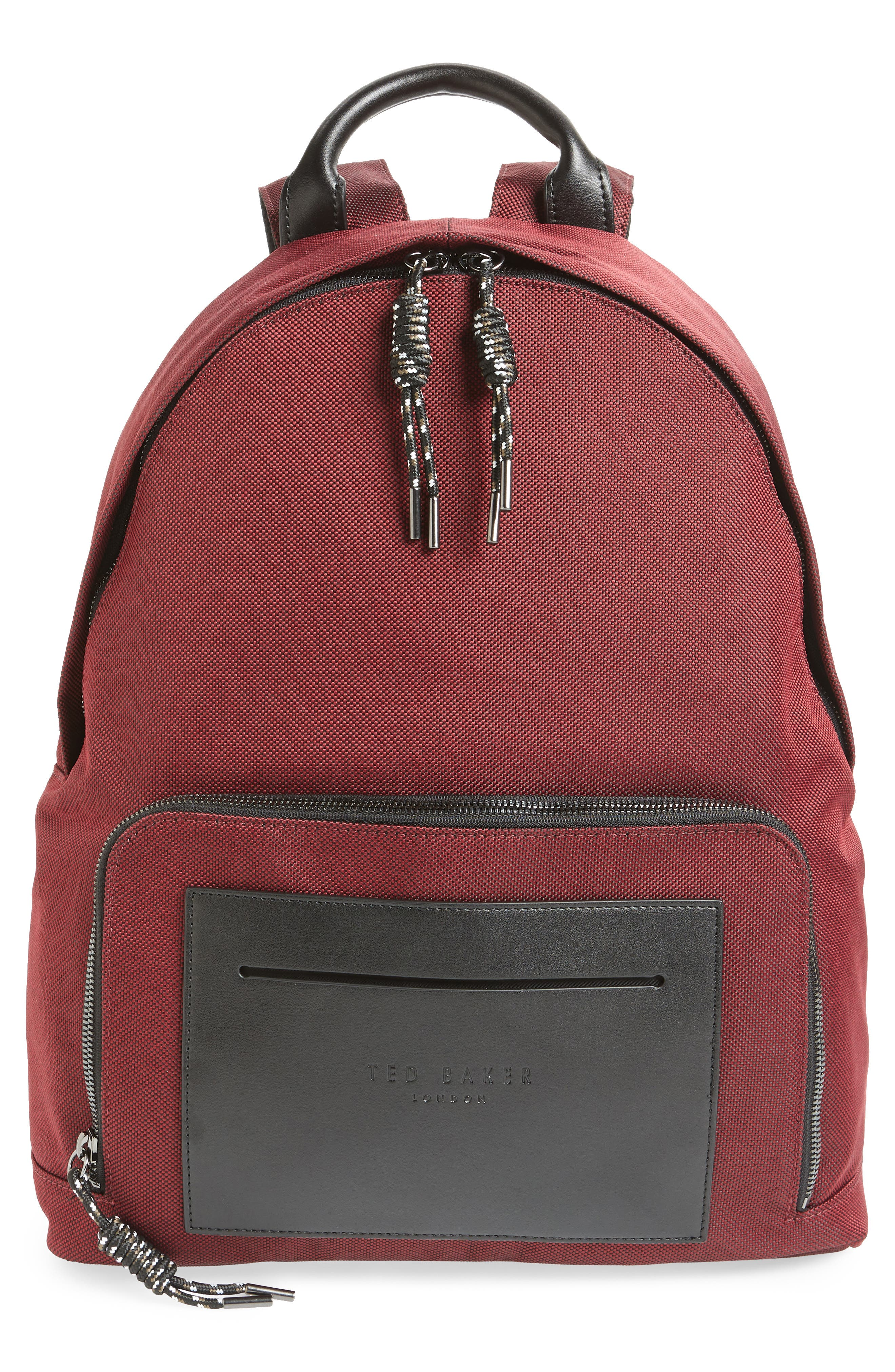 Filer Backpack,                         Main,                         color, RED