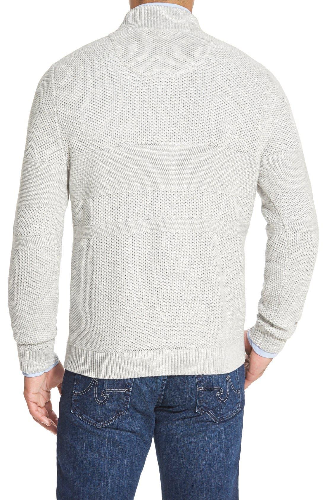 Texture Cotton & Cashmere Quarter Zip Sweater,                             Alternate thumbnail 8, color,                             050