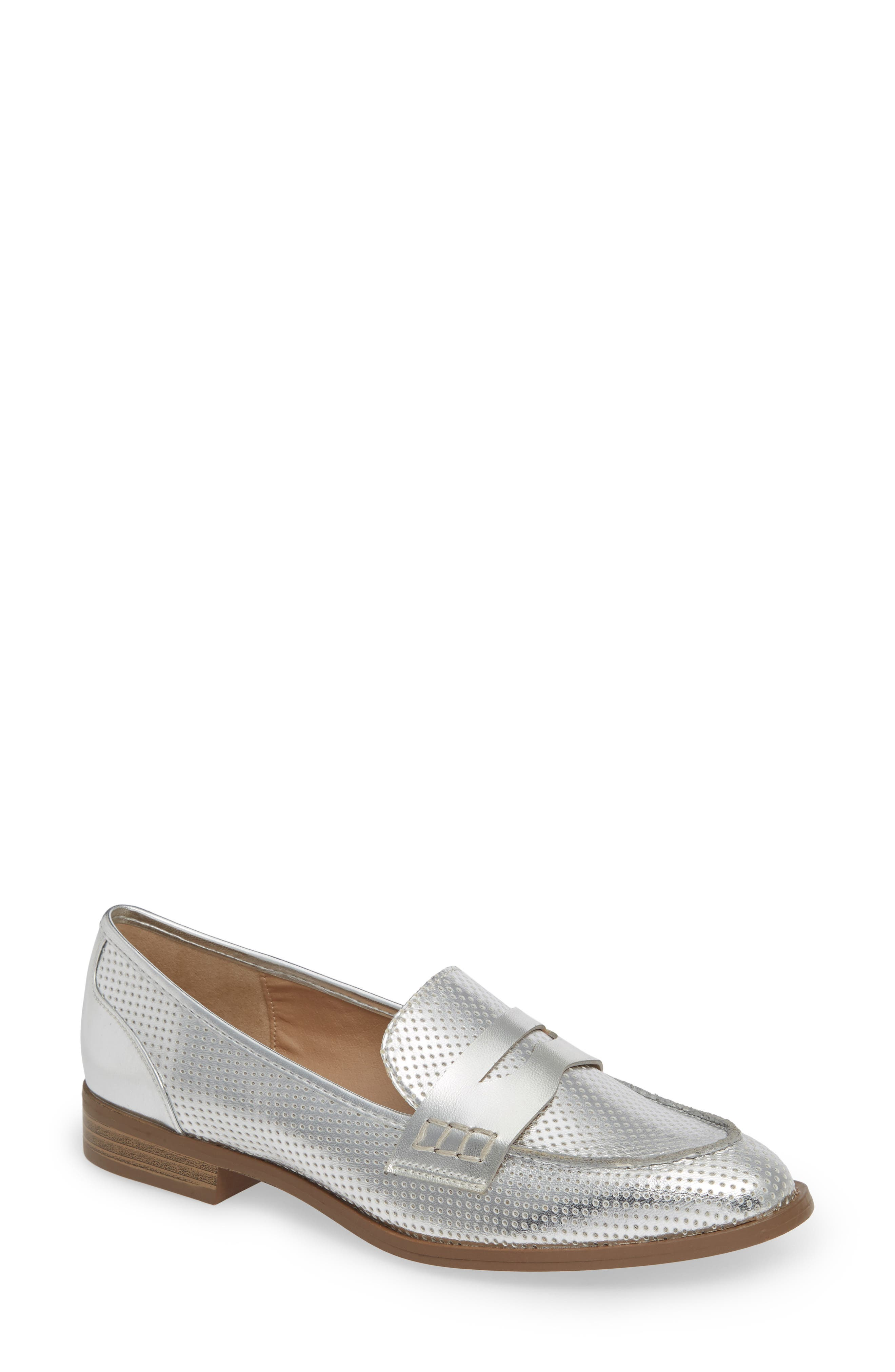 Lewis Loafer,                             Main thumbnail 1, color,                             SILVER