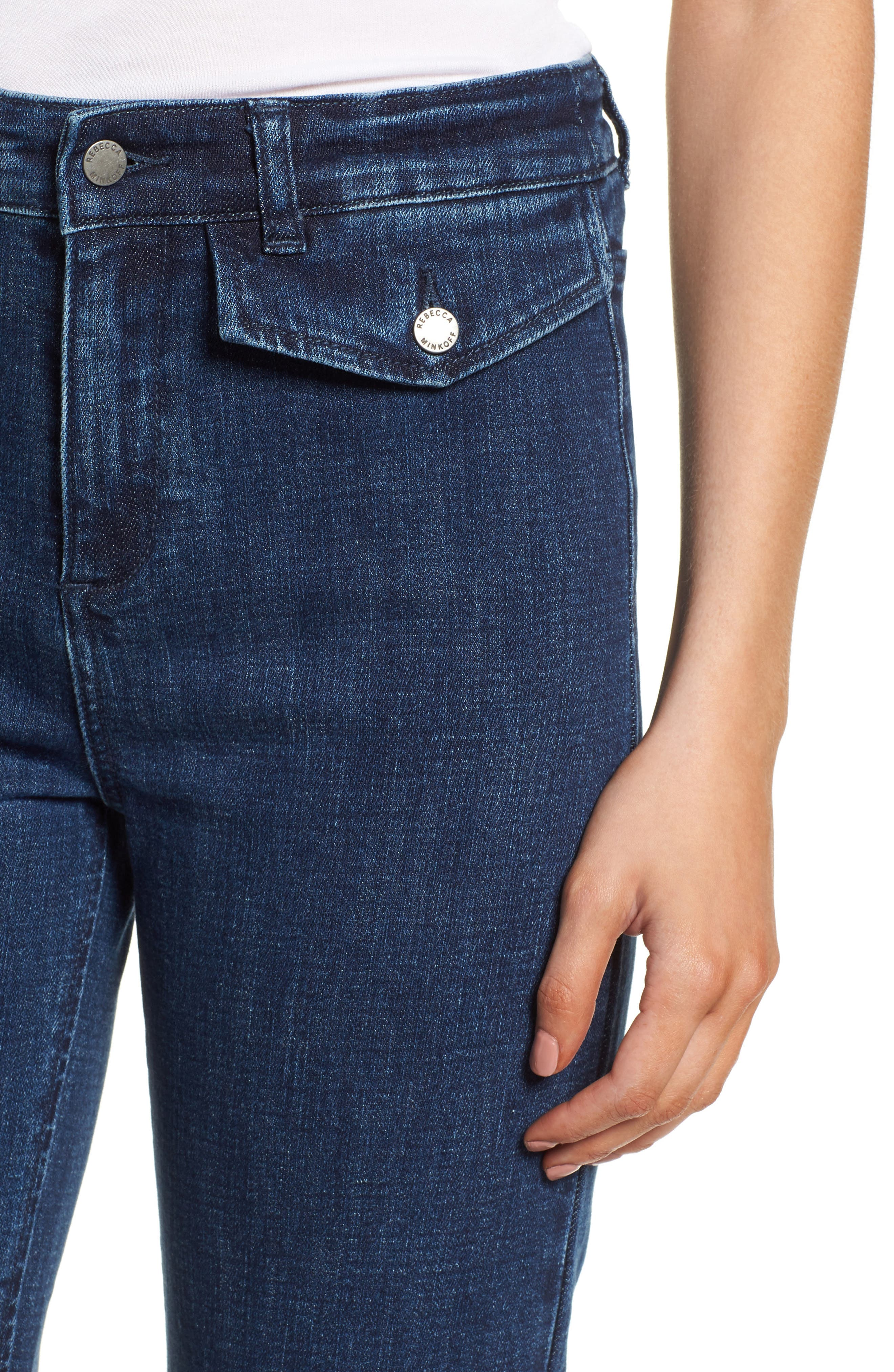 Elwood Wide Leg Jeans,                             Alternate thumbnail 4, color,                             INDIGO