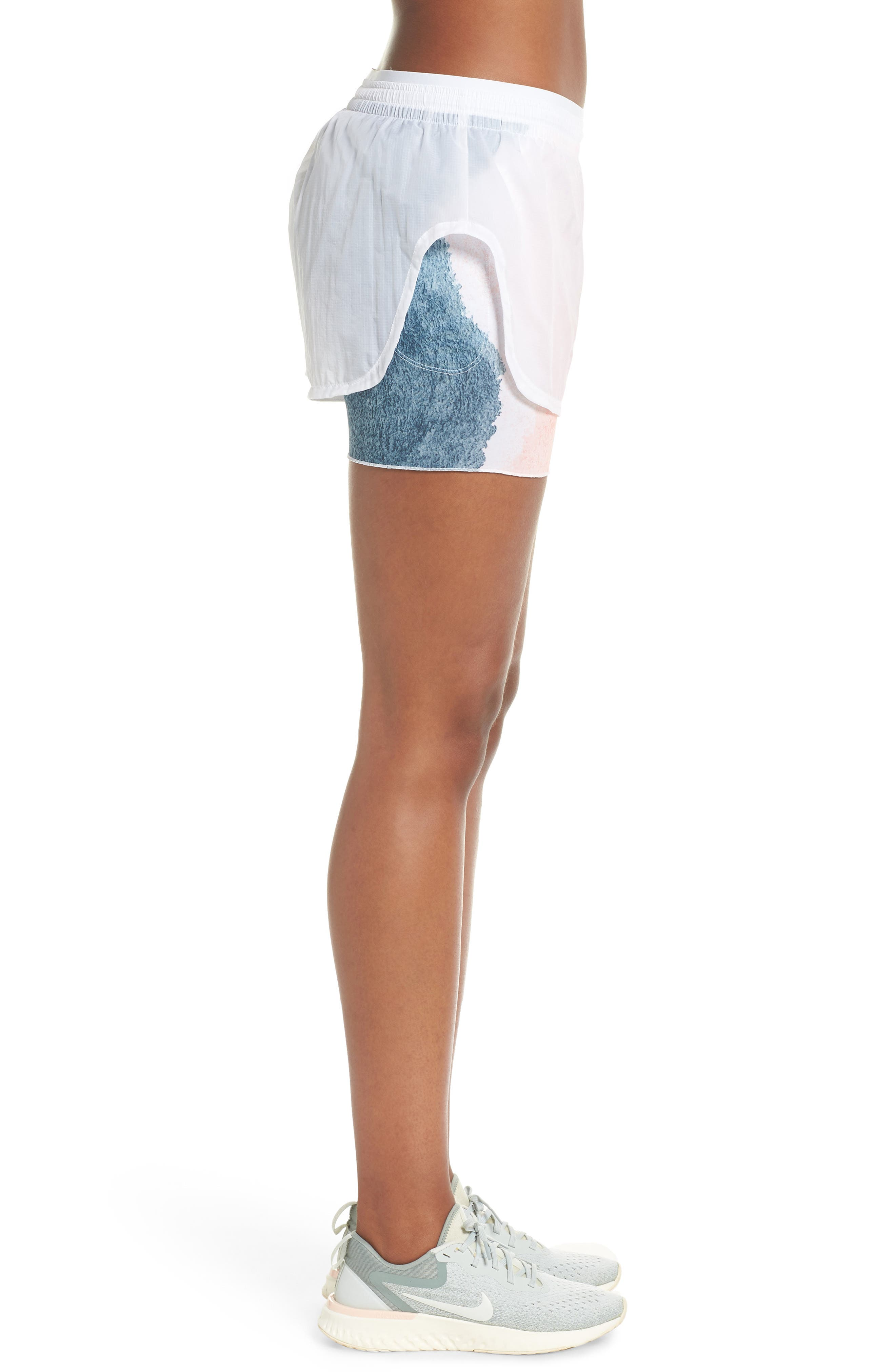 Elevate 2-in-1 Running Shorts,                             Alternate thumbnail 3, color,                             WHITE