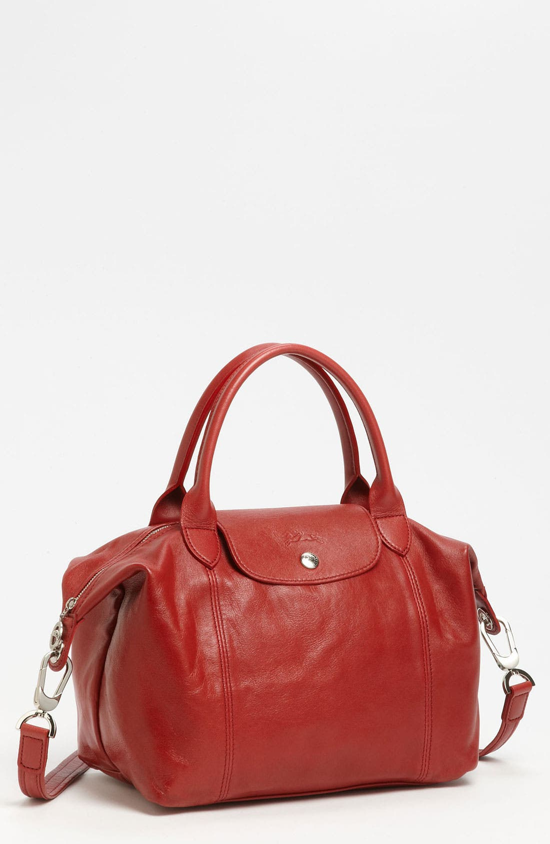 Small 'Le Pliage Cuir' Leather Top Handle Tote,                             Main thumbnail 18, color,