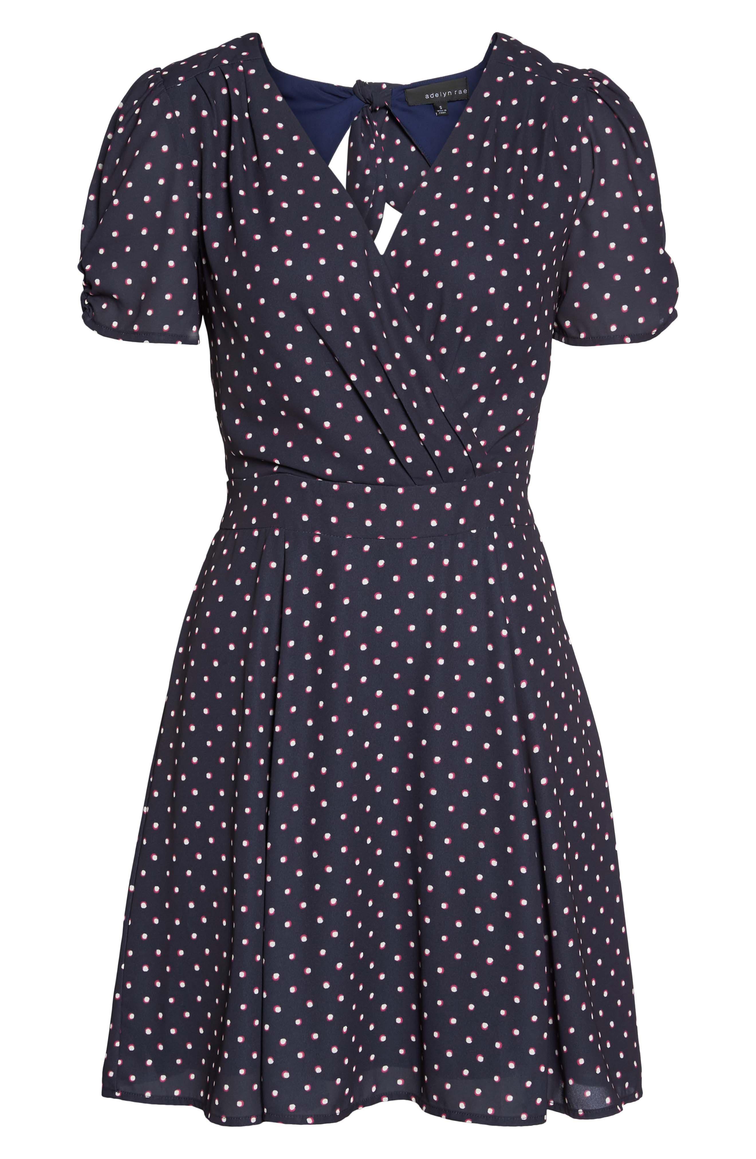 Vera Fit & Flare Dress,                             Alternate thumbnail 6, color,                             410