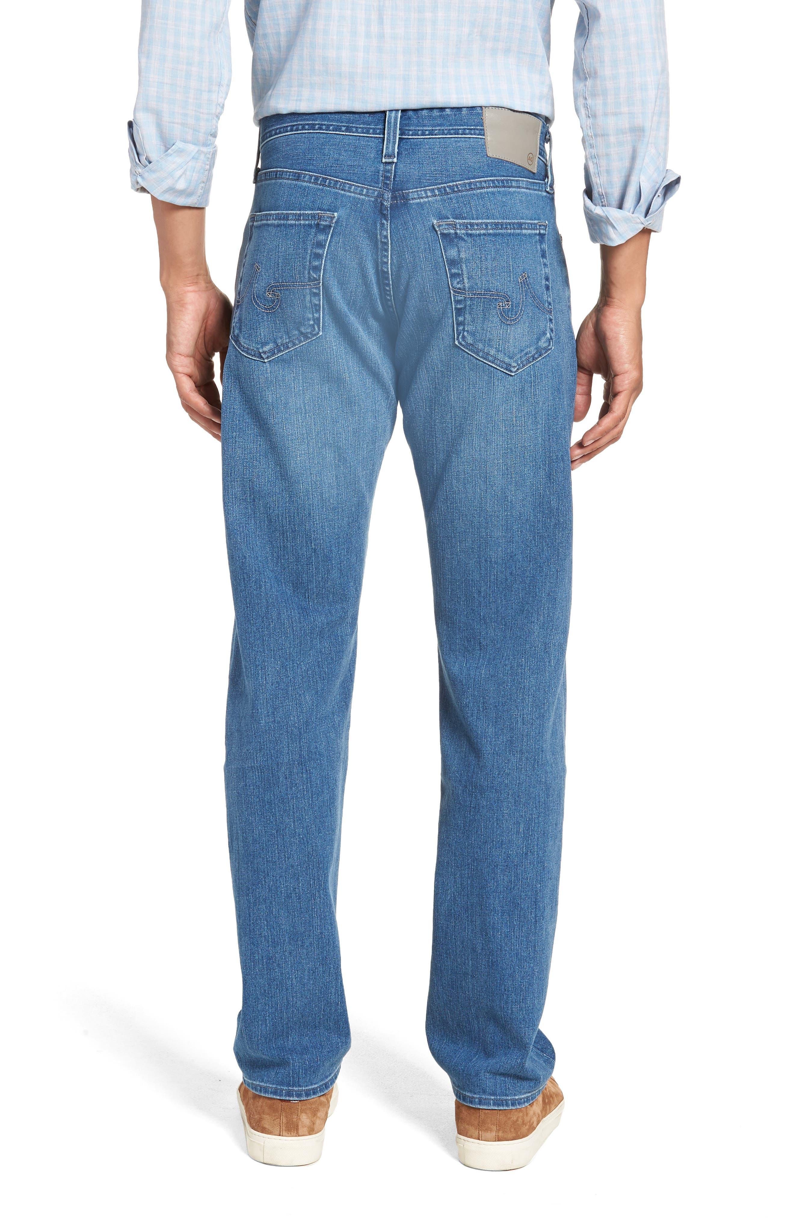 Graduate Slim Straight Leg Jeans,                             Alternate thumbnail 2, color,                             DEMOLITION
