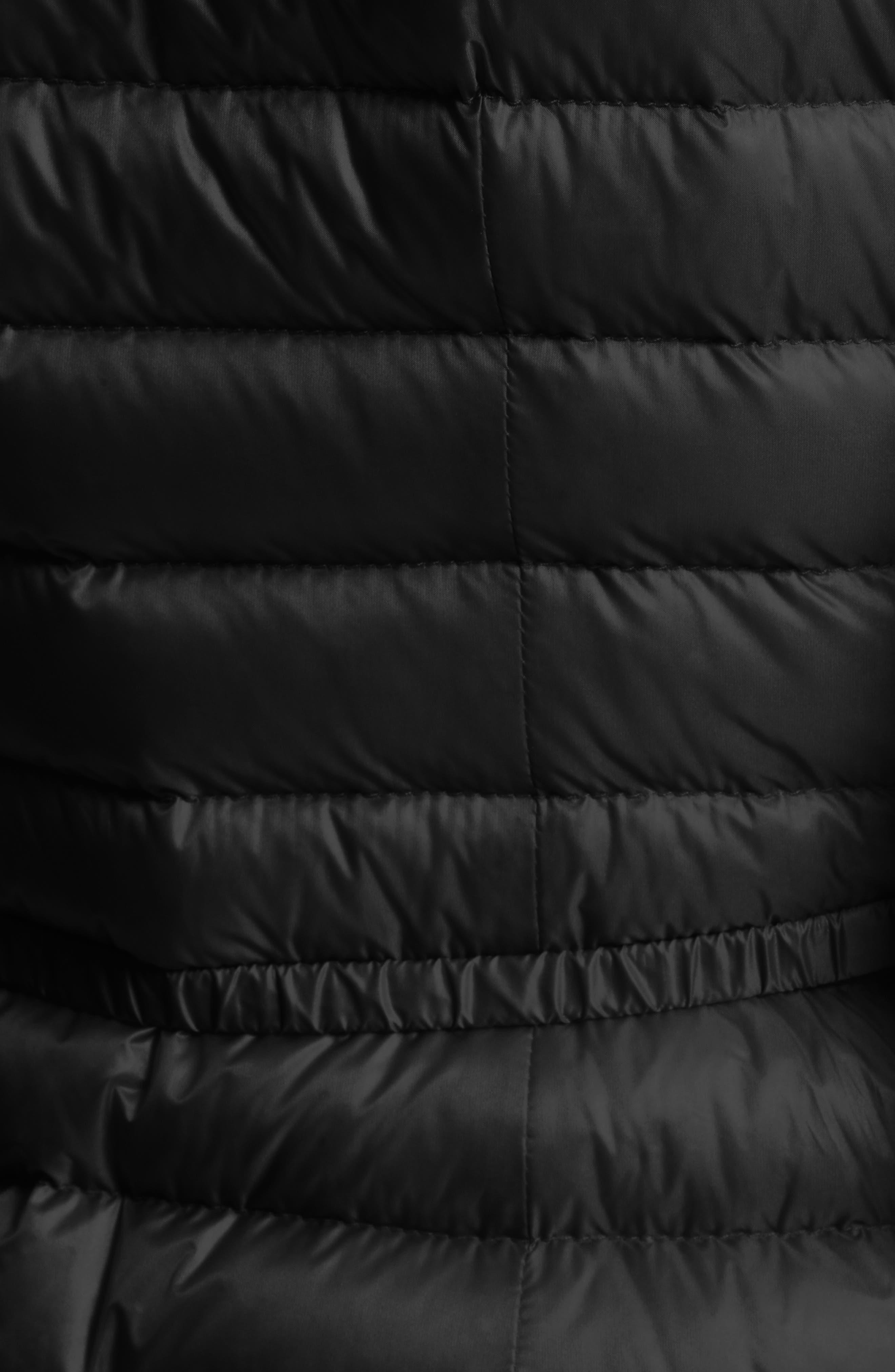 Barbel Water Resistant Long Hooded Down Jacket,                             Alternate thumbnail 4, color,                             001
